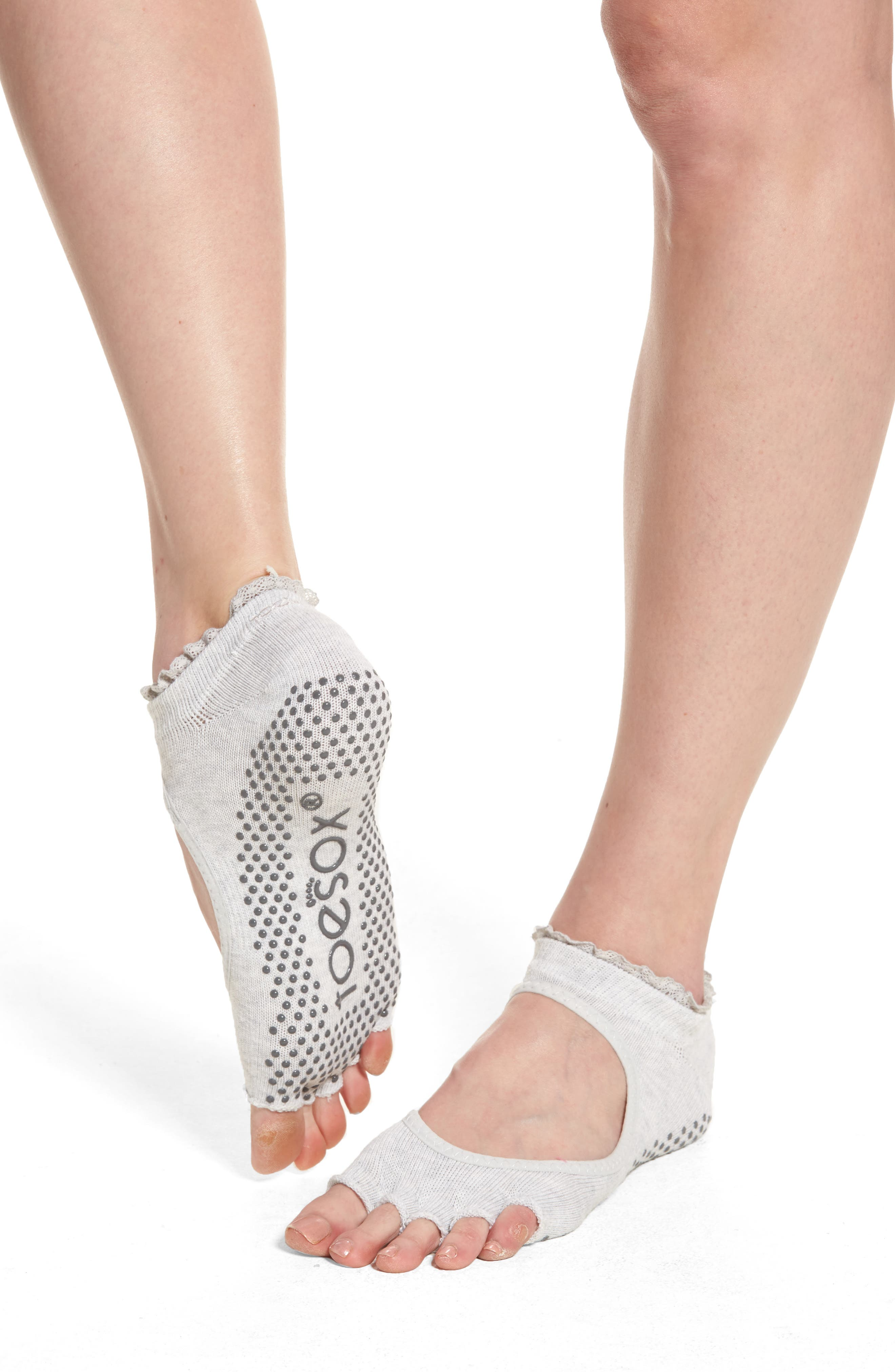 TOESOX Bella Half Toe Gripper Socks