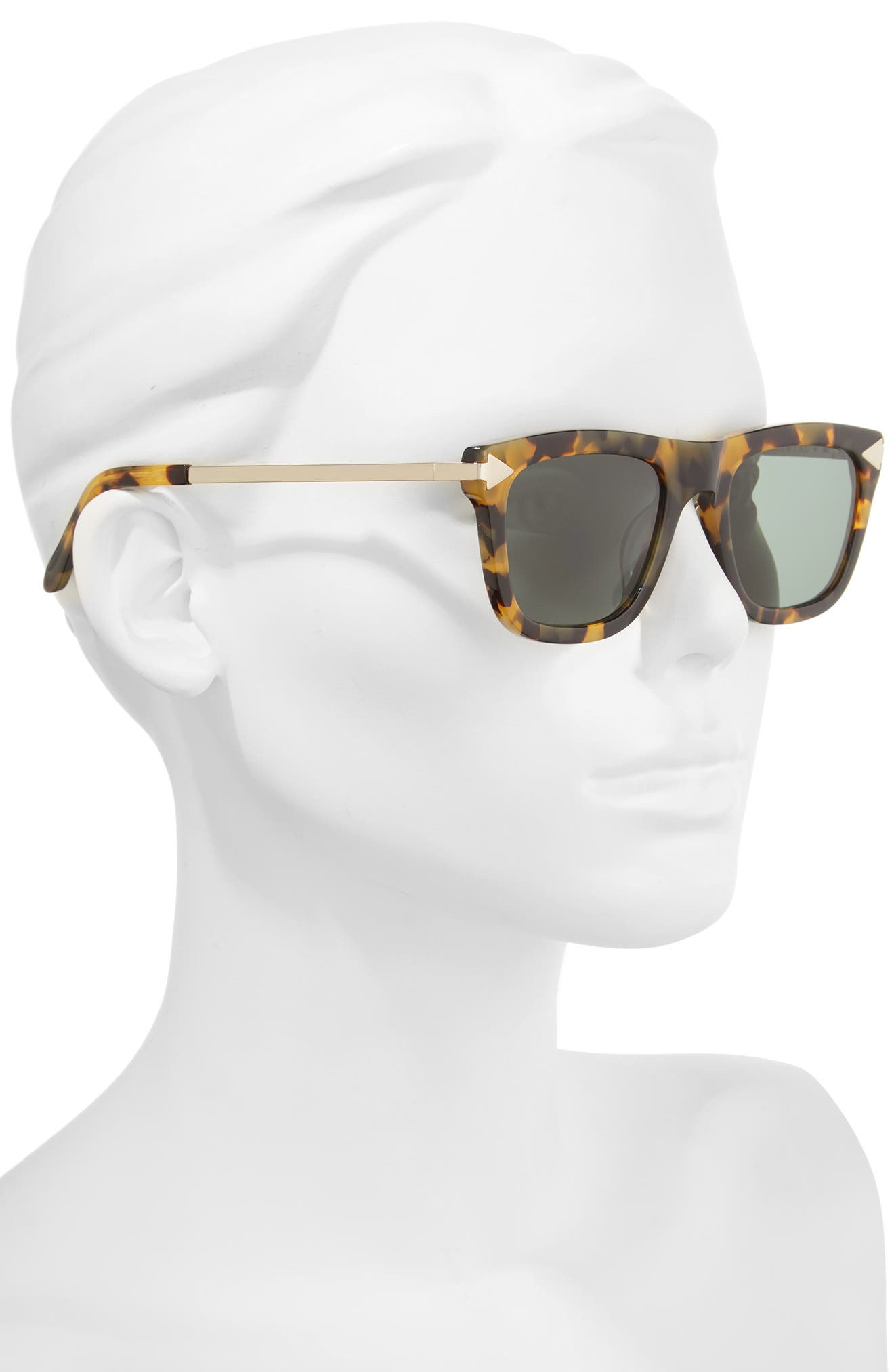 x Monumental Voltaire 51mm Polarized Sunglasses,                             Alternate thumbnail 2, color,                             Crazy Tortoise