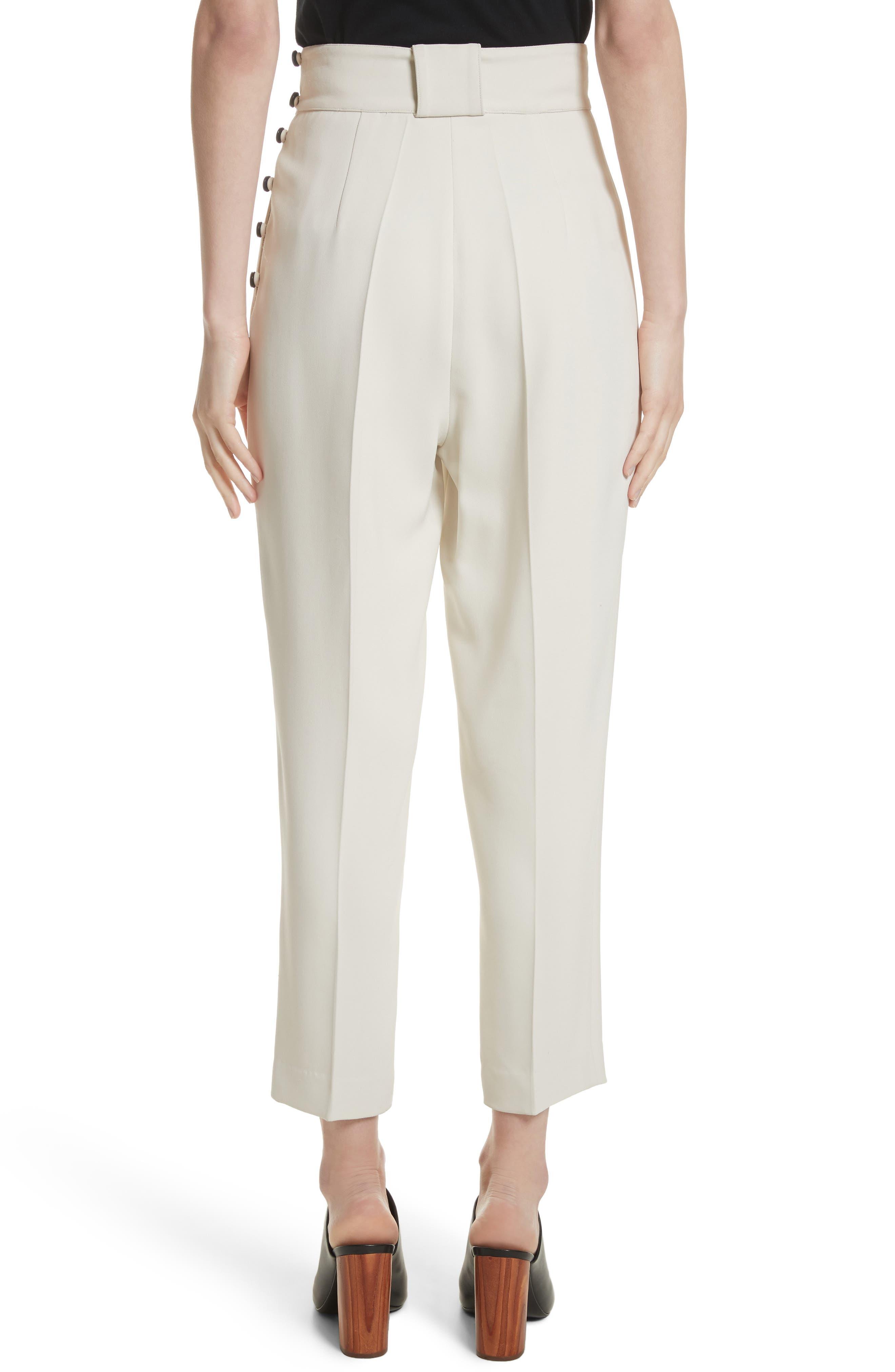 Side Button Crop Pants,                             Alternate thumbnail 3, color,                             Light Cement