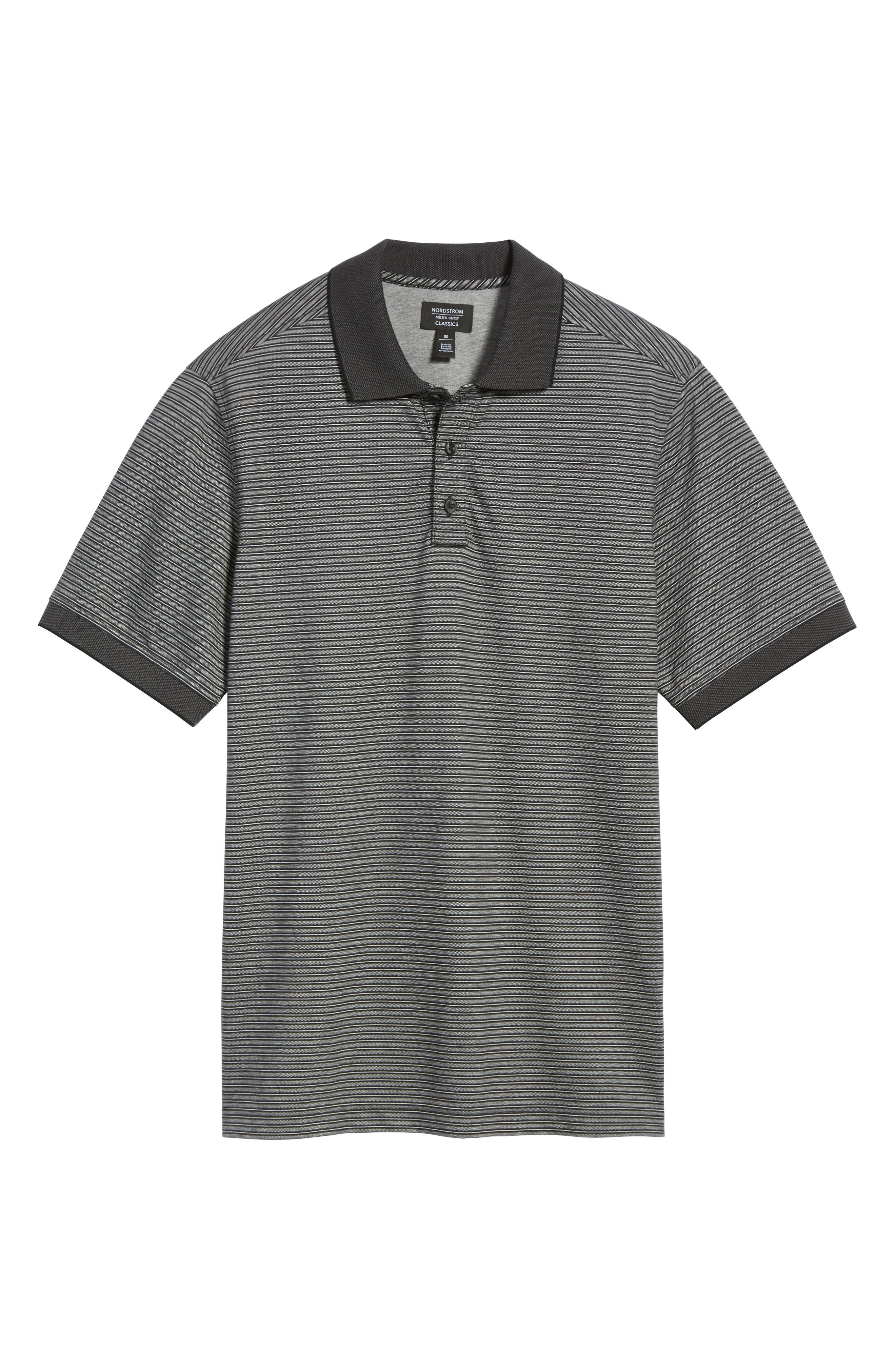 Alternate Image 6  - Nordstrom Men's Shop Regular Fit Performance Stripe Polo