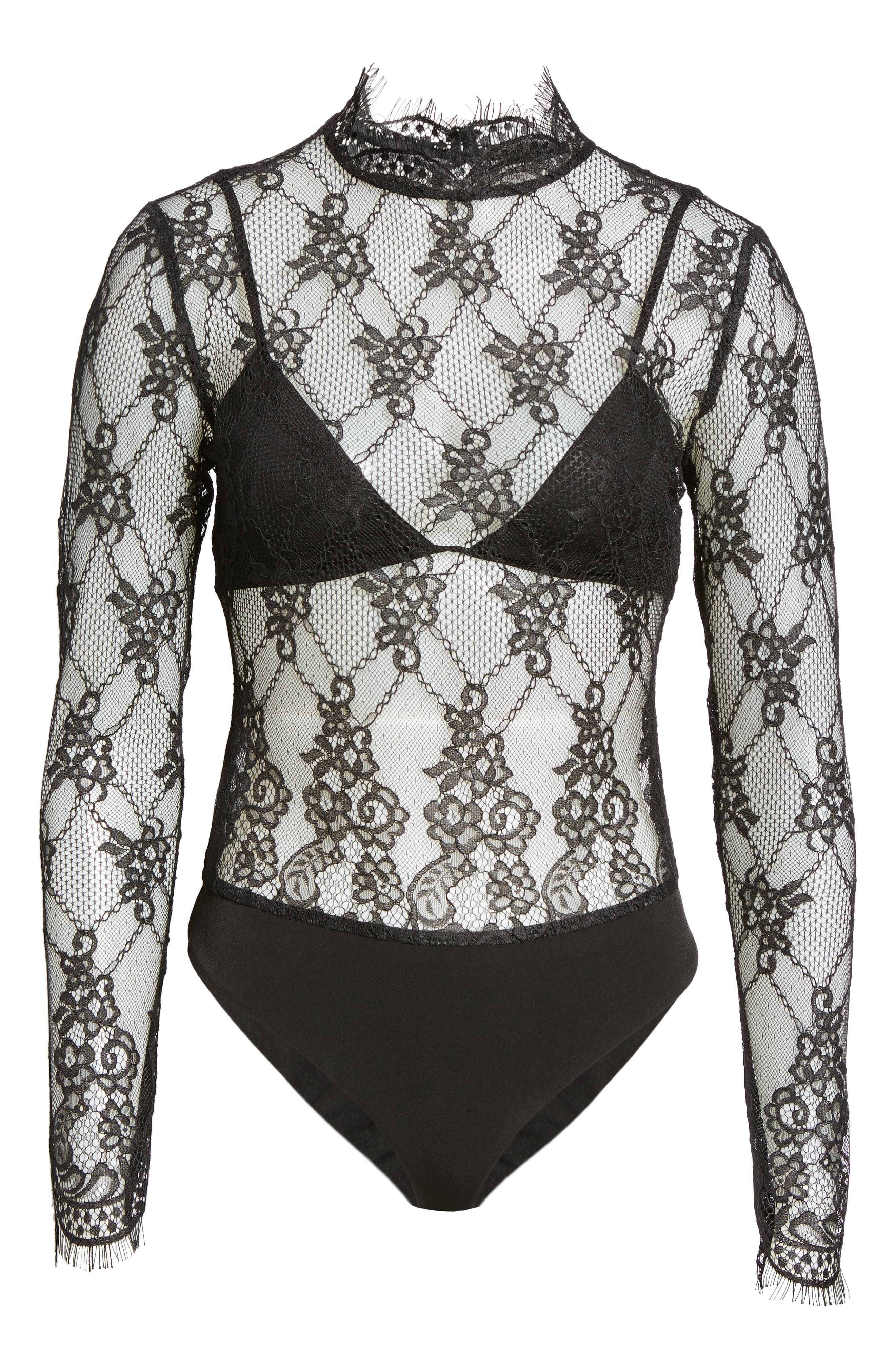 Alternate Image 6  - NBD Raylynn Lace Bodysuit