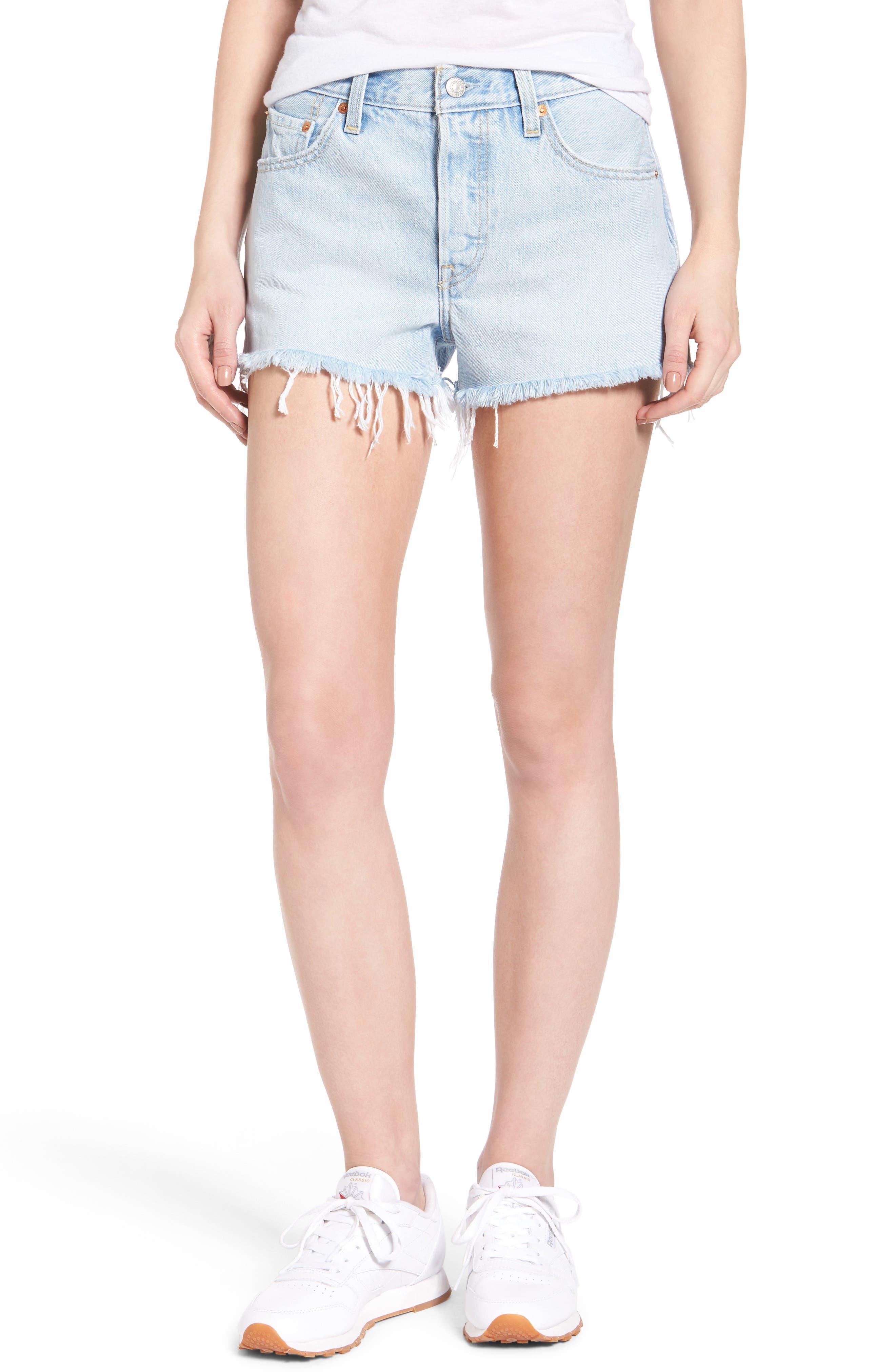 Levi's® 501® Cutoff Denim Shorts (Bowie Blue)