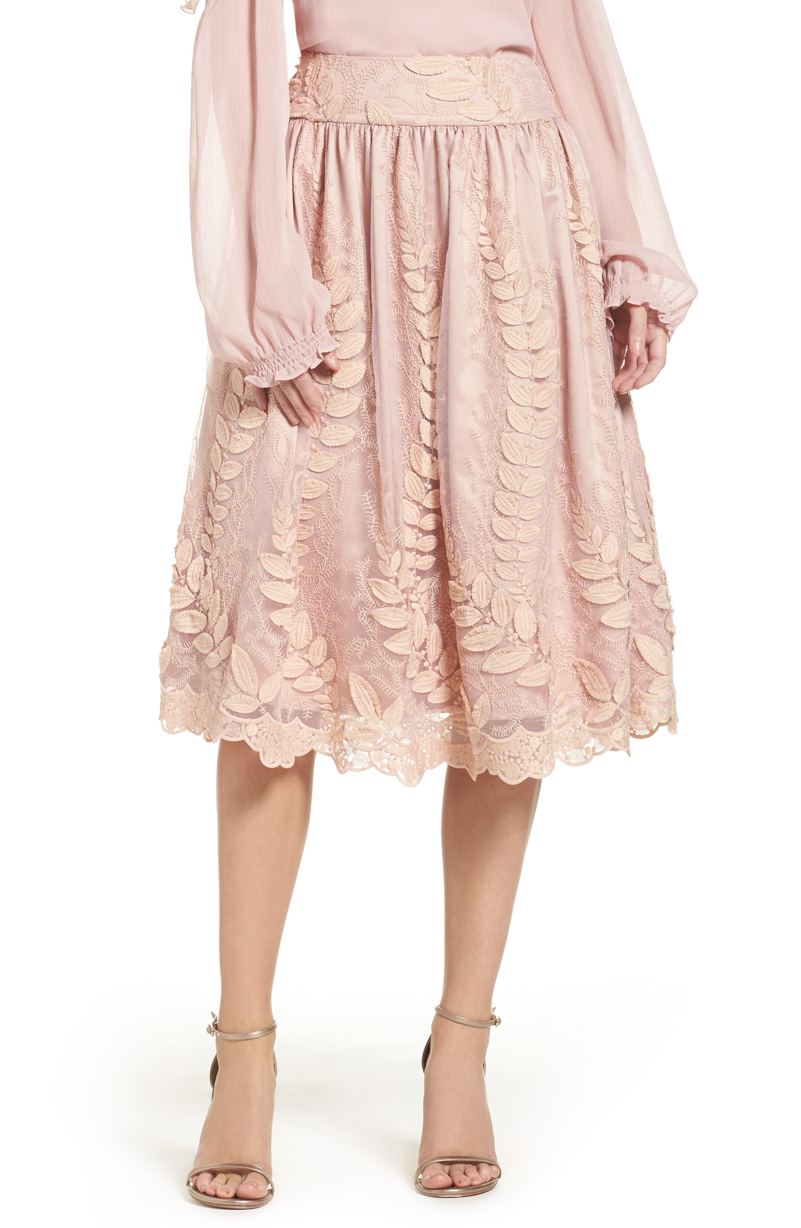 Eliza J Lace Midi Skirt