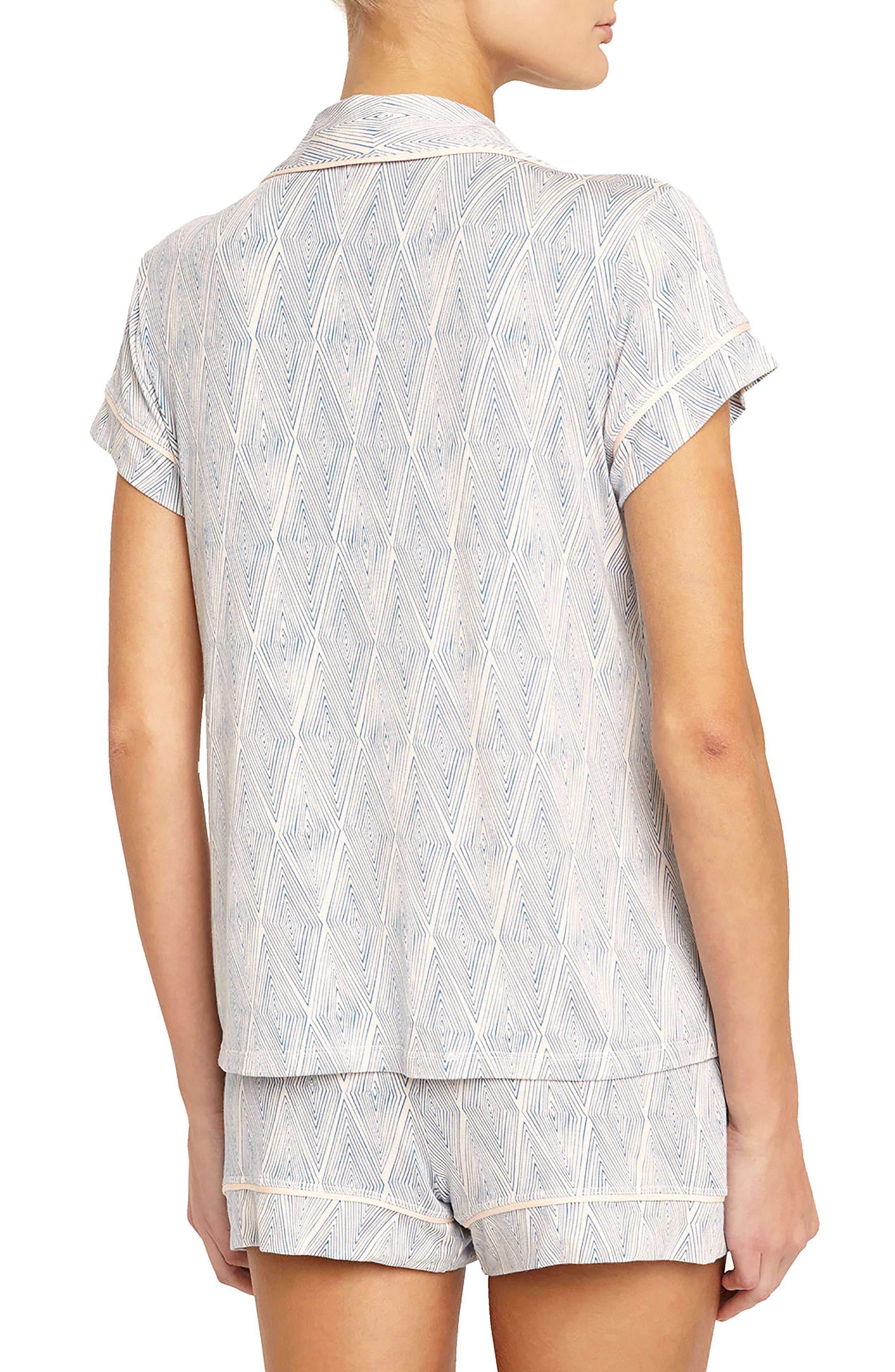 Alternate Image 2  - Eberjey Diamond Maze Short Pajamas