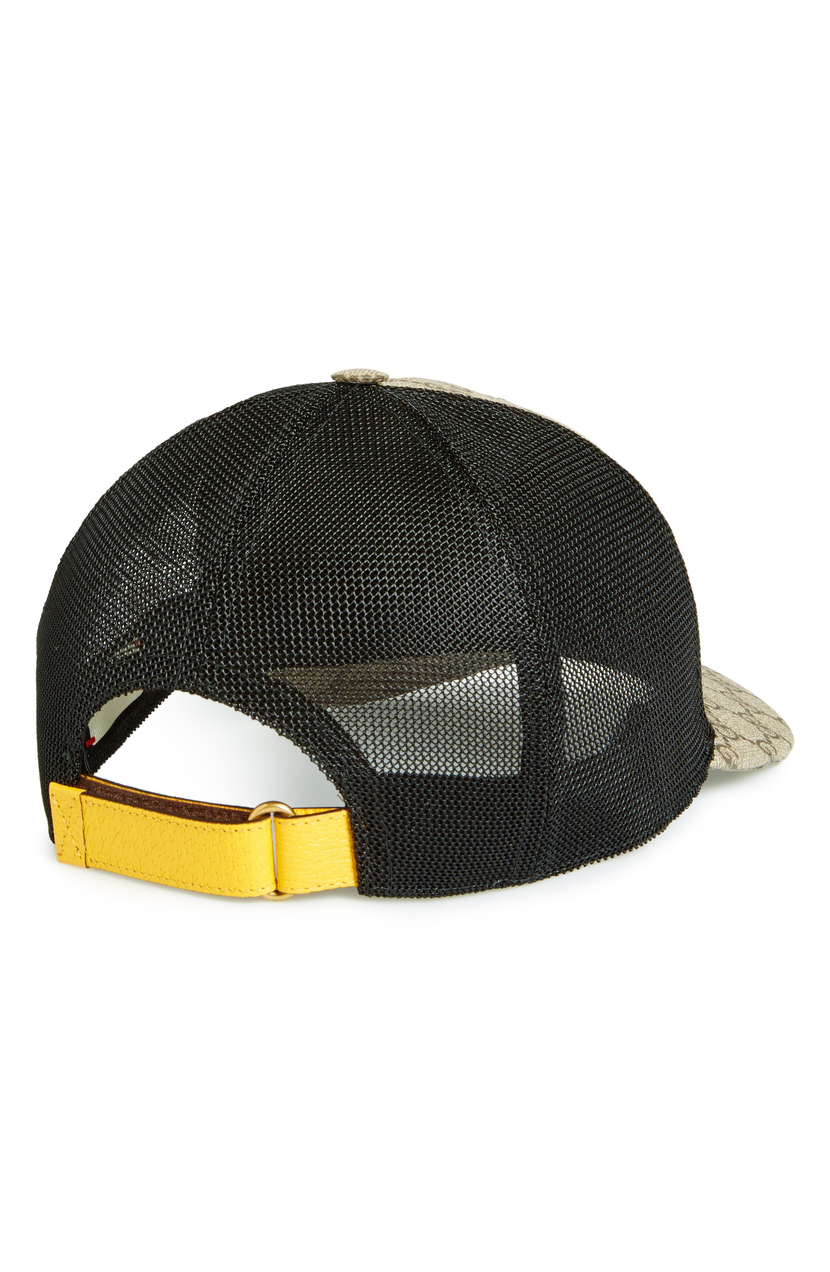 GG Supreme Patch Trucker Hat,                             Alternate thumbnail 2, color,                             Dark Brown