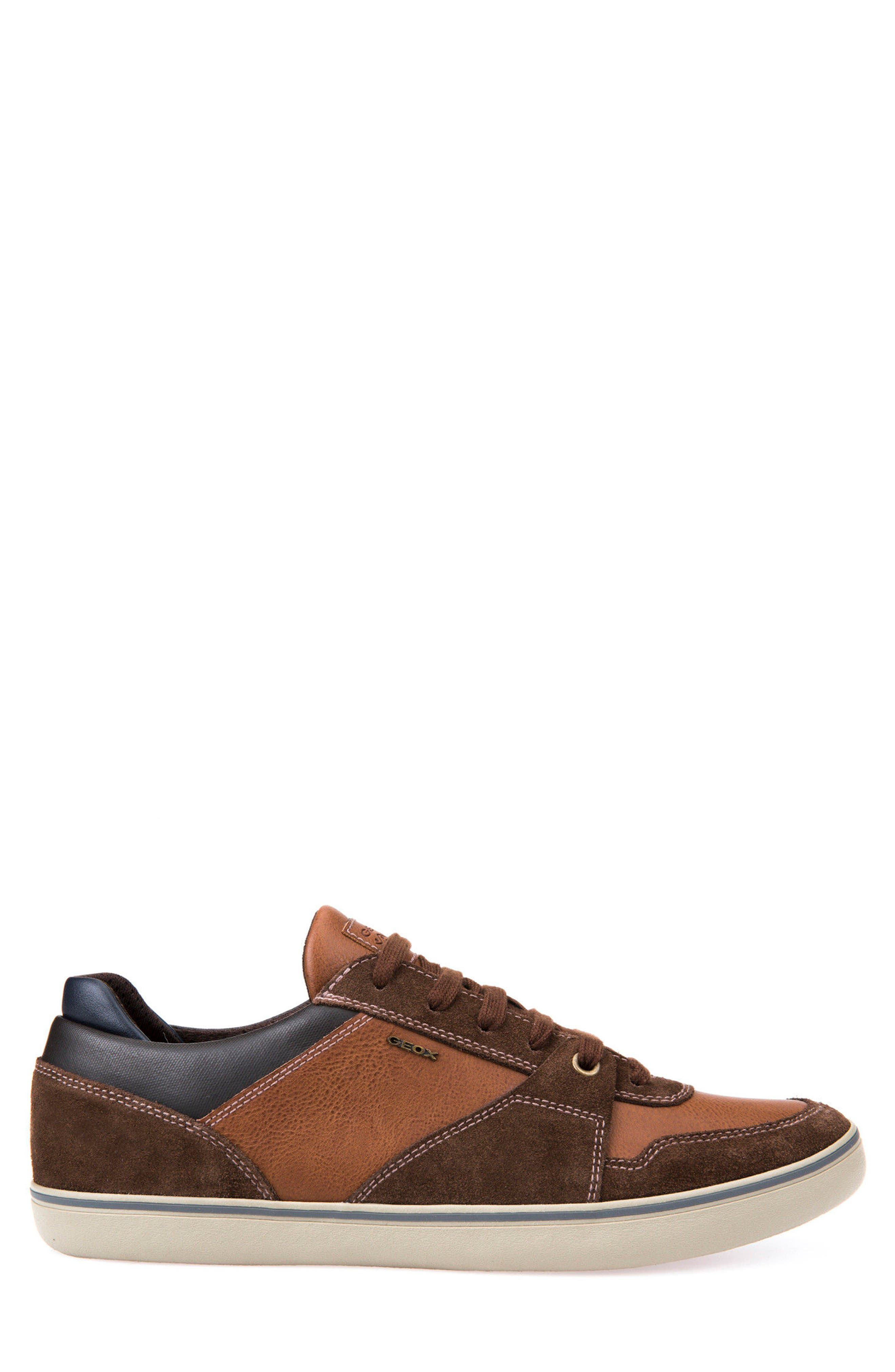 Box 27 Low-Top Sneaker,                             Alternate thumbnail 3, color,                             Ebony/ Brown Cotto
