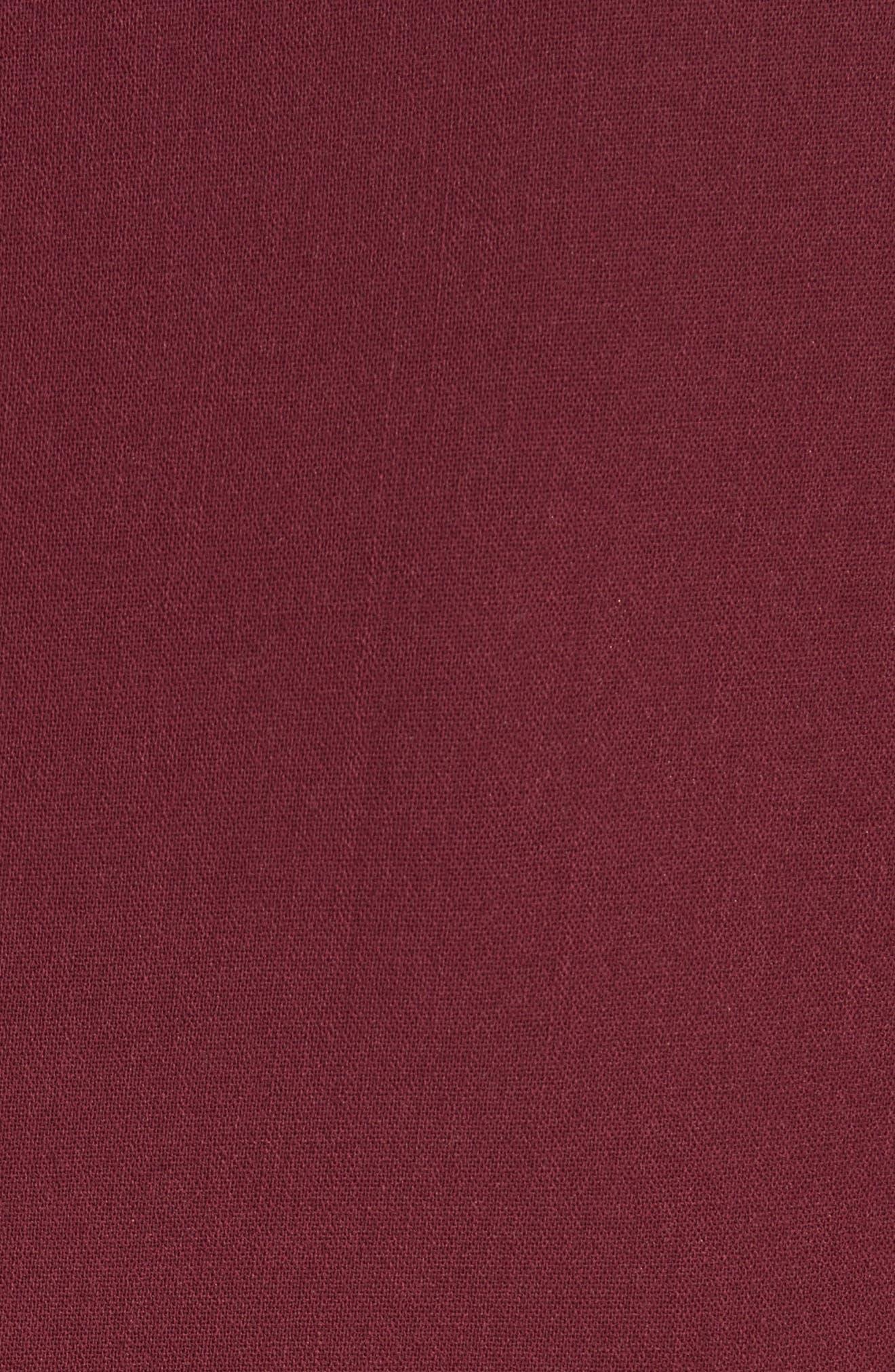 Bell Cuff Sheath Dress,                             Alternate thumbnail 3, color,                             Merlot