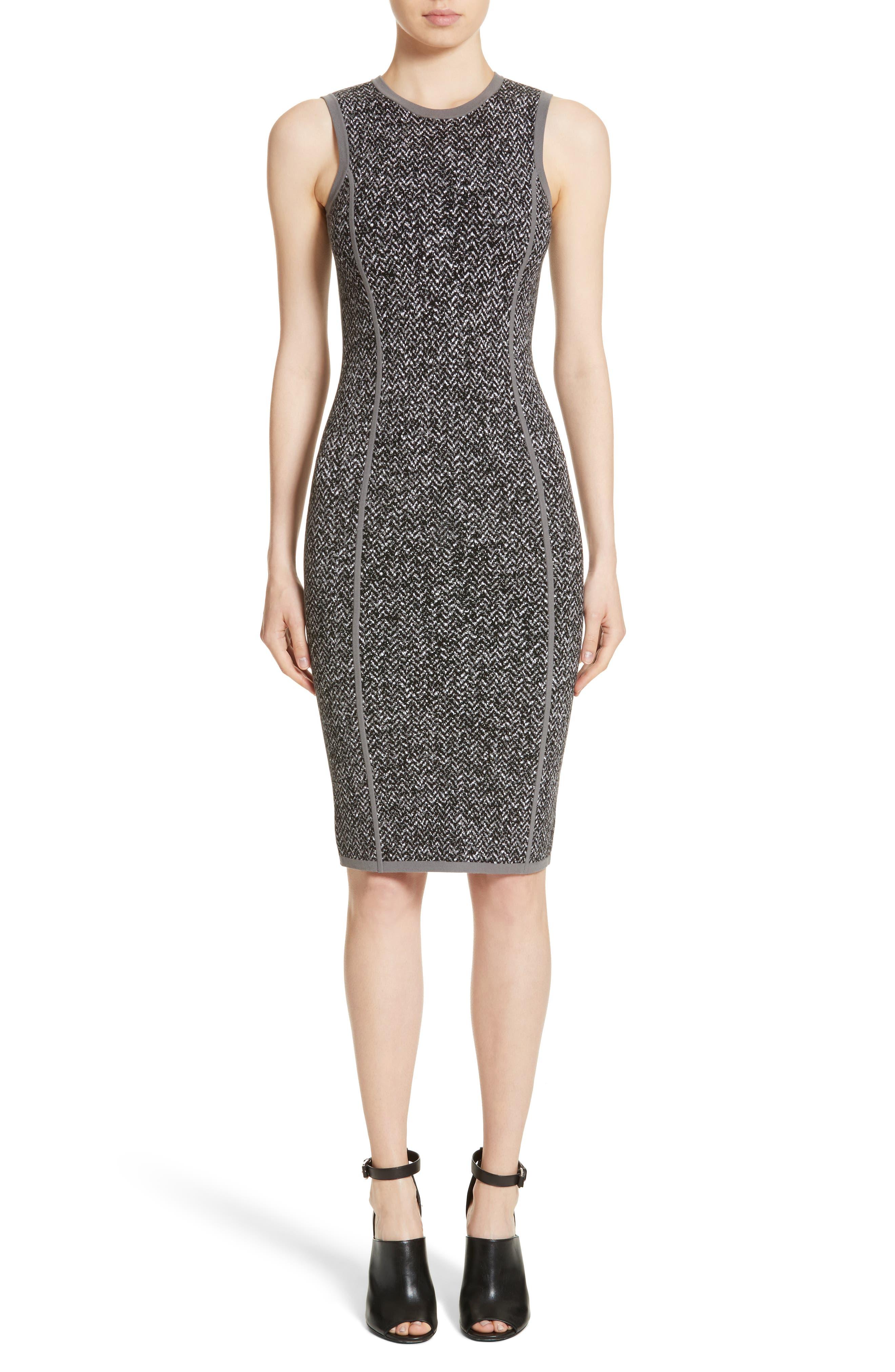 Alternate Image 1 Selected - Michael Kors Stretch Tweed Jacquard Sheath Dress