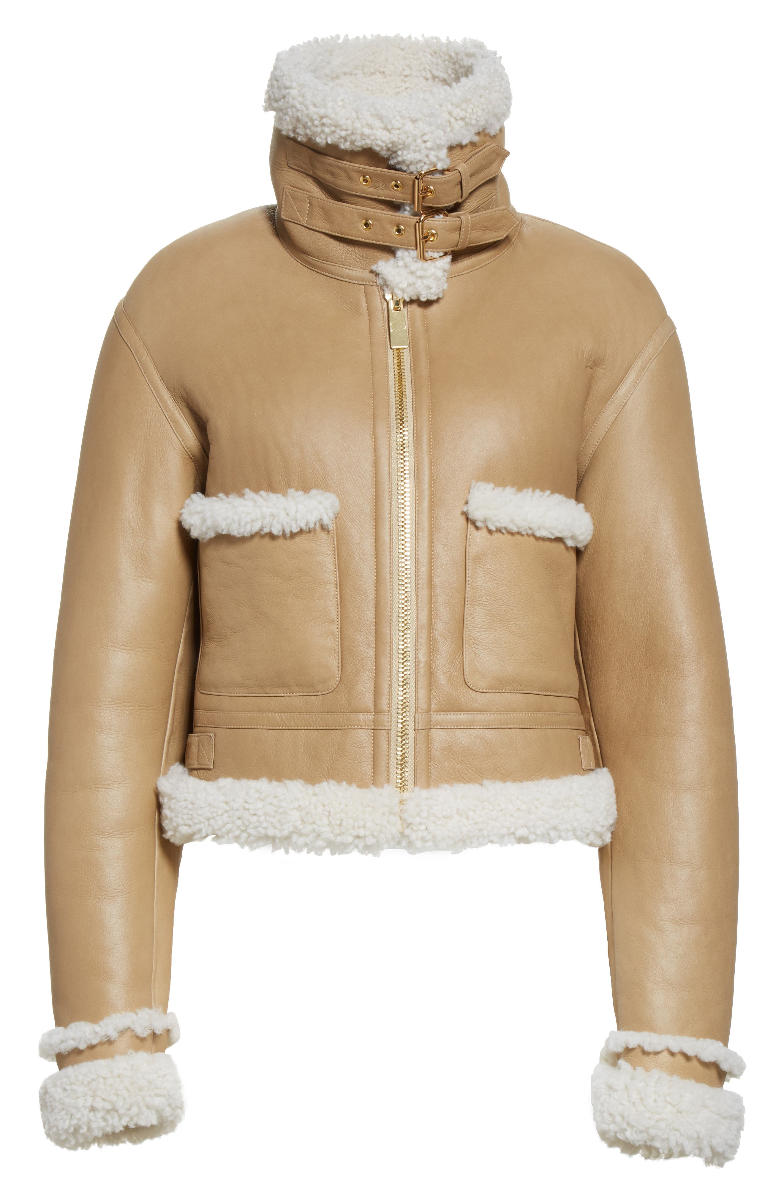 Alternate Image 6  - Michael Kors Genuine Shearling Moto Jacket