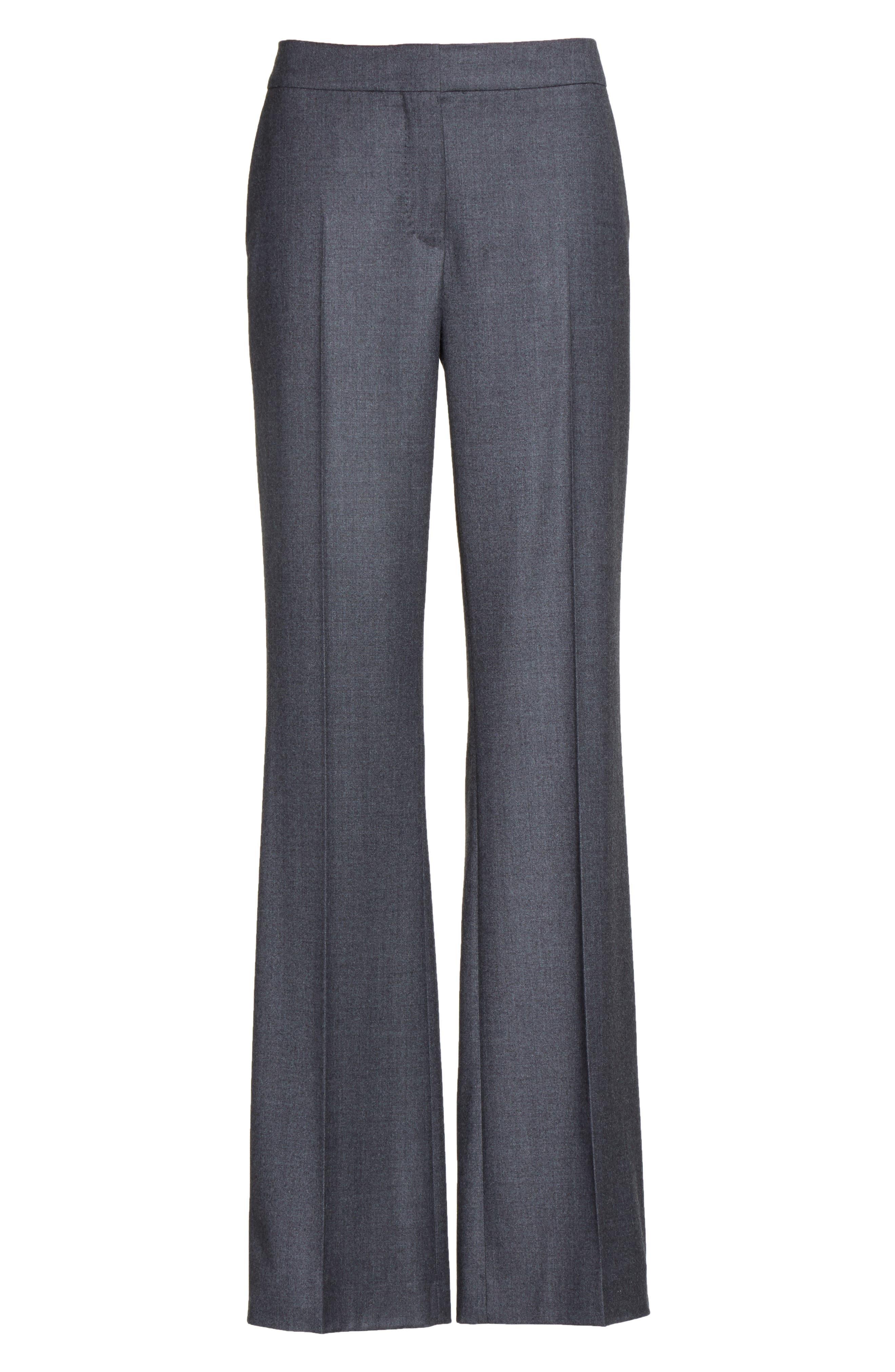 Pedone Wool Pants,                             Alternate thumbnail 8, color,                             Dark Grey