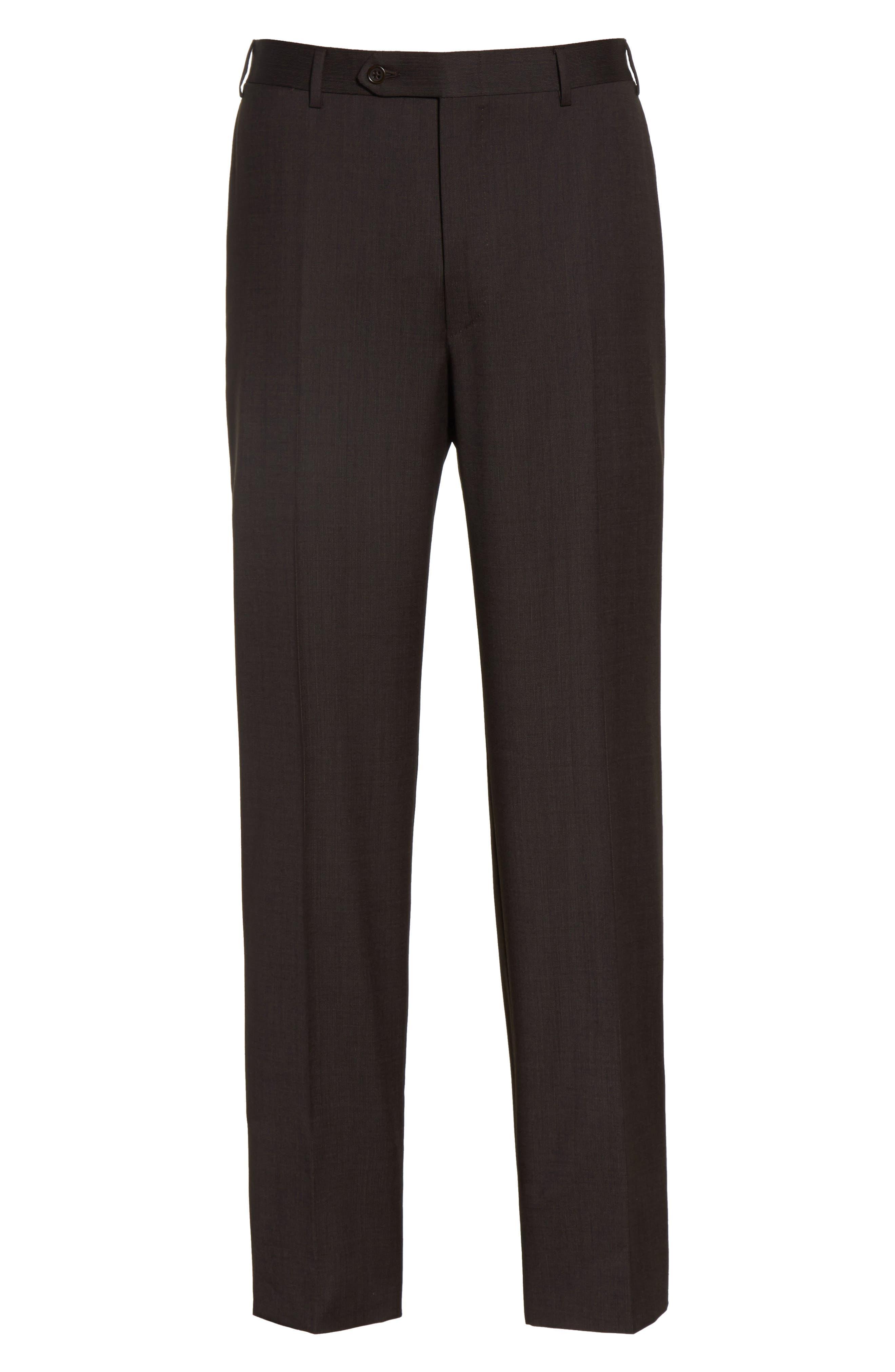 Alternate Image 6  - Canali Flat Front Stripe Wool Trousers