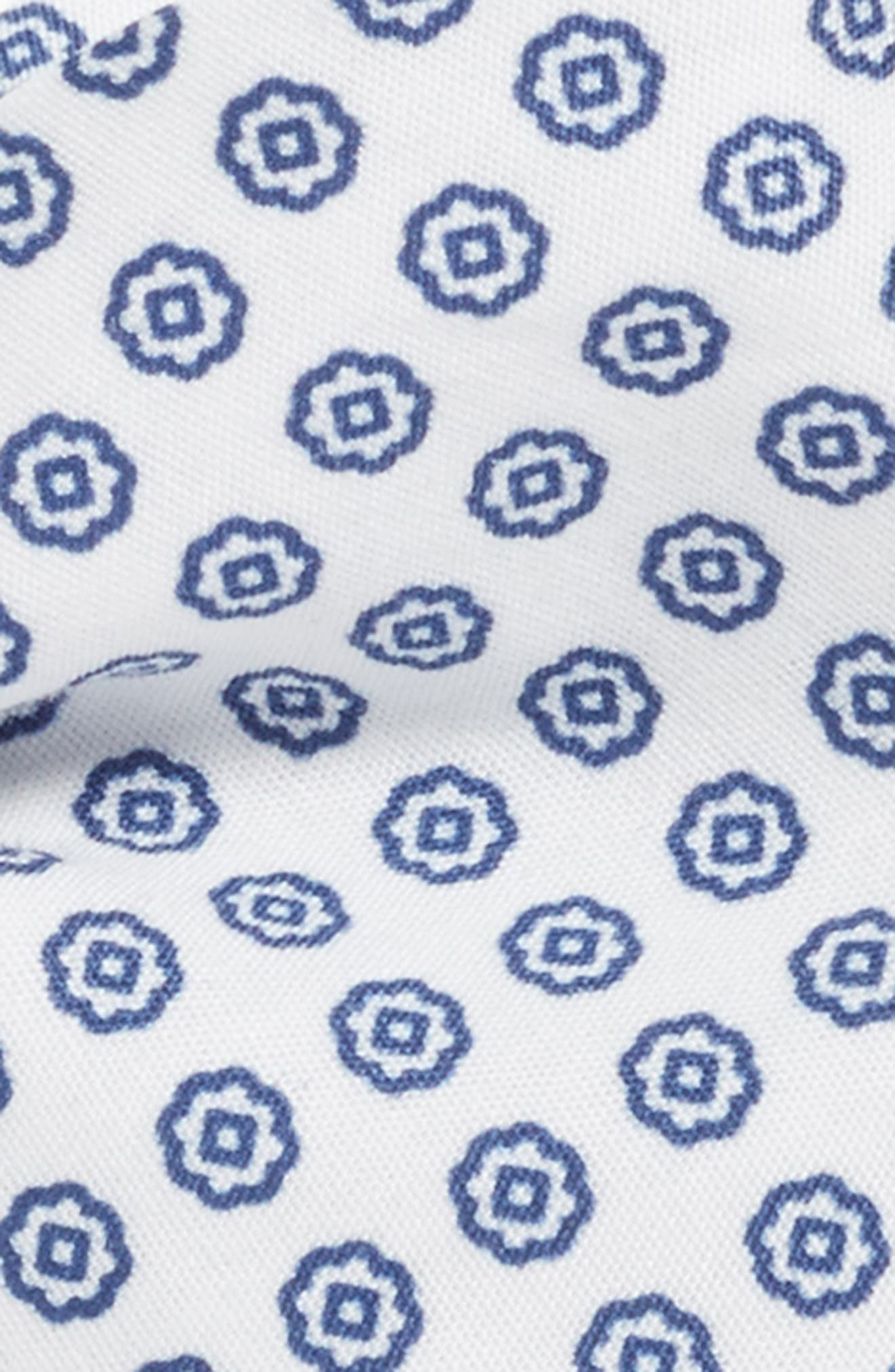 Floral Cotton Bow Tie,                             Alternate thumbnail 2, color,                             Navy Medallion