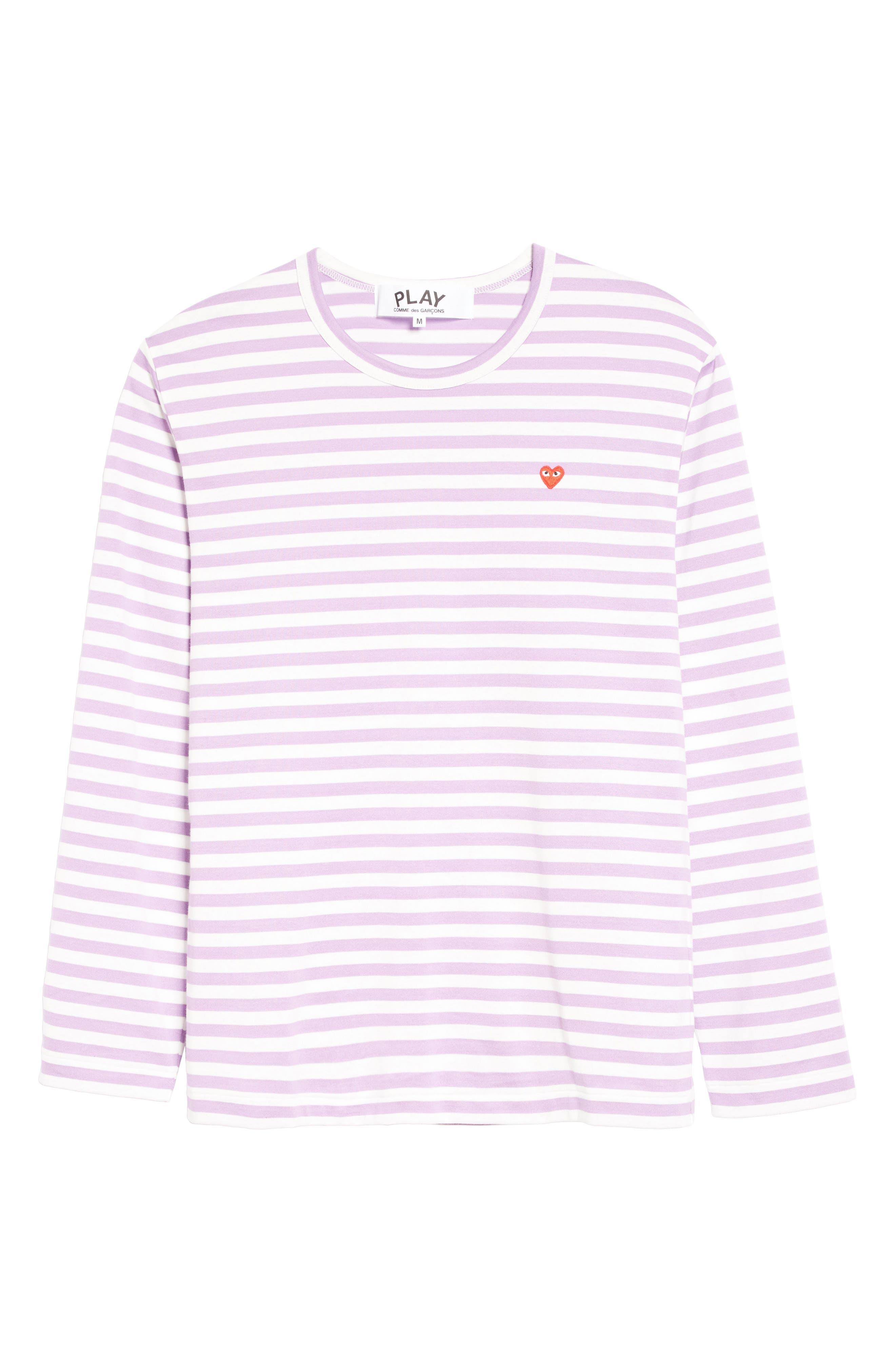 Alternate Image 6  - Comme des Garçons PLAY Long Sleeve Stripe Crewneck T-Shirt