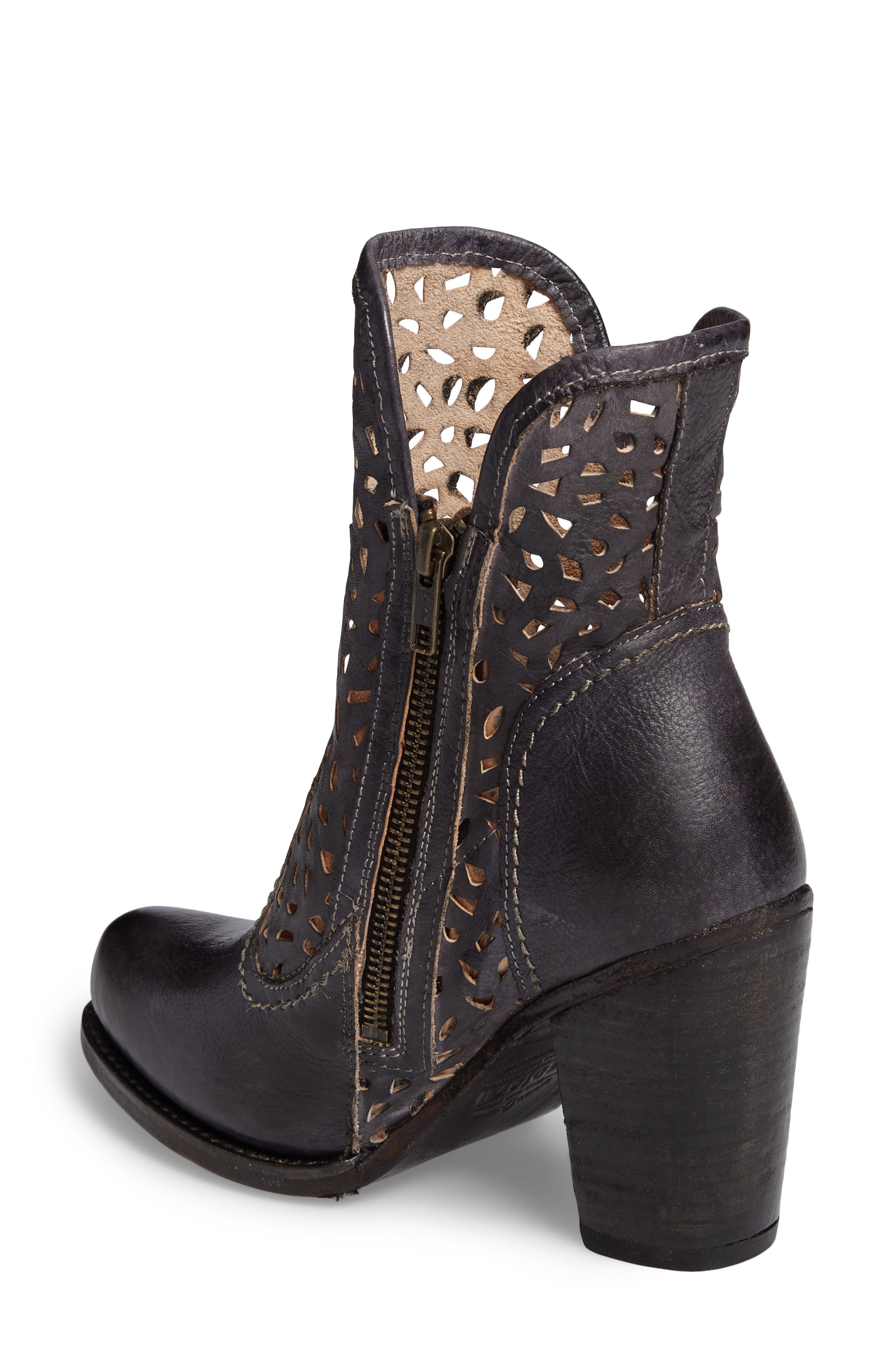 Irma Perforated Boot,                             Alternate thumbnail 2, color,                             Graphito Rustic Leather