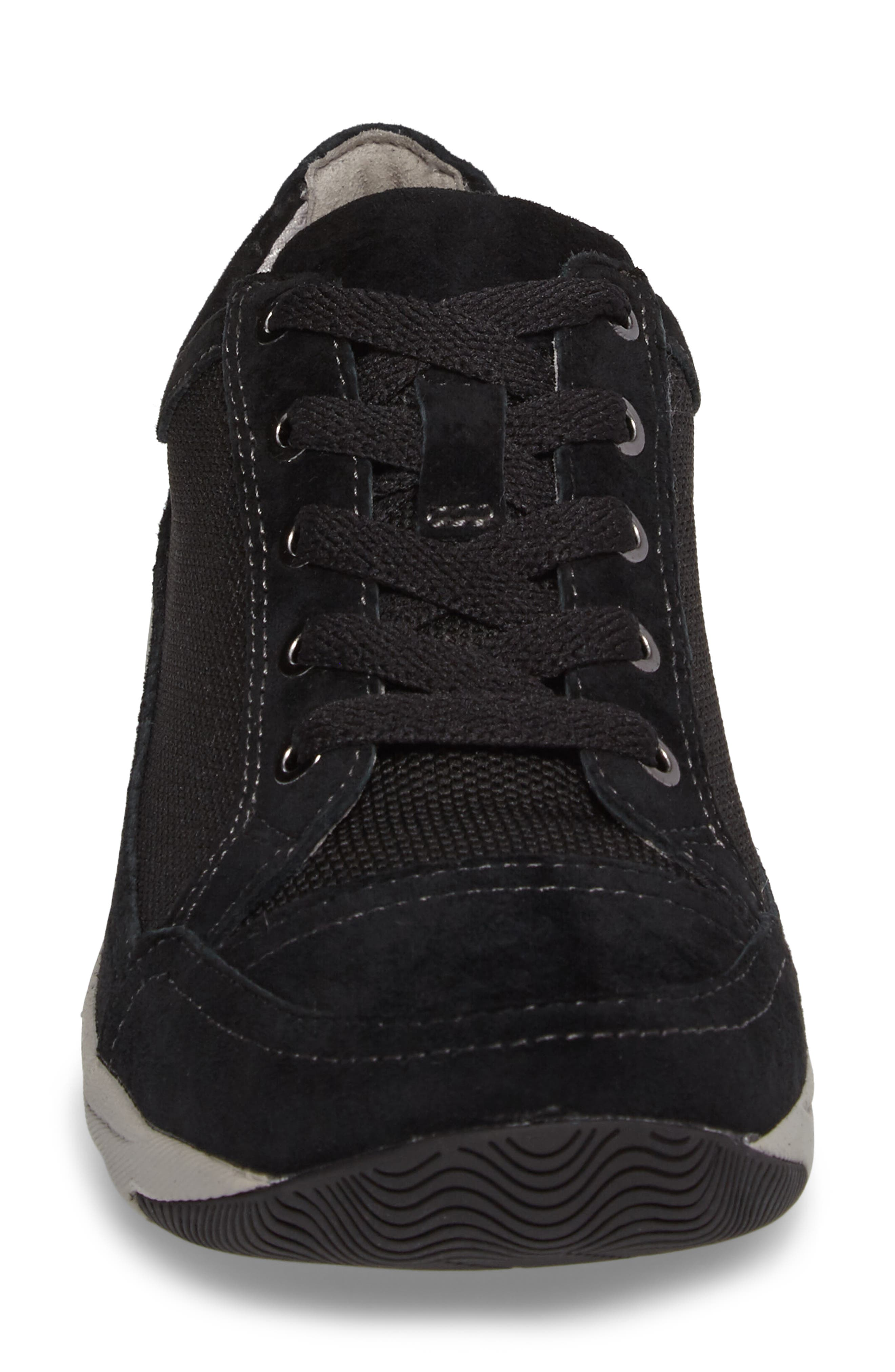 Harmony Sneaker,                             Alternate thumbnail 4, color,                             Black Suede