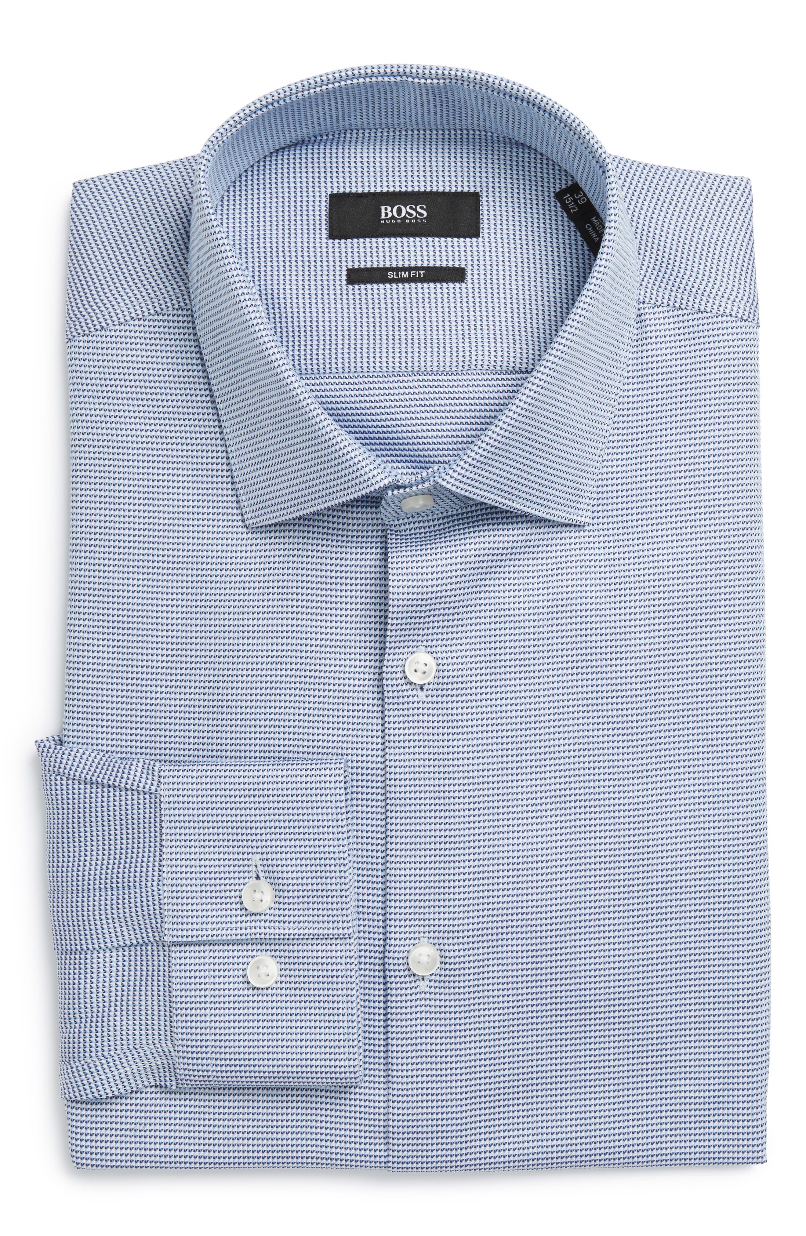 BOSS Ismo Slim Fit Geometric Dress Shirt