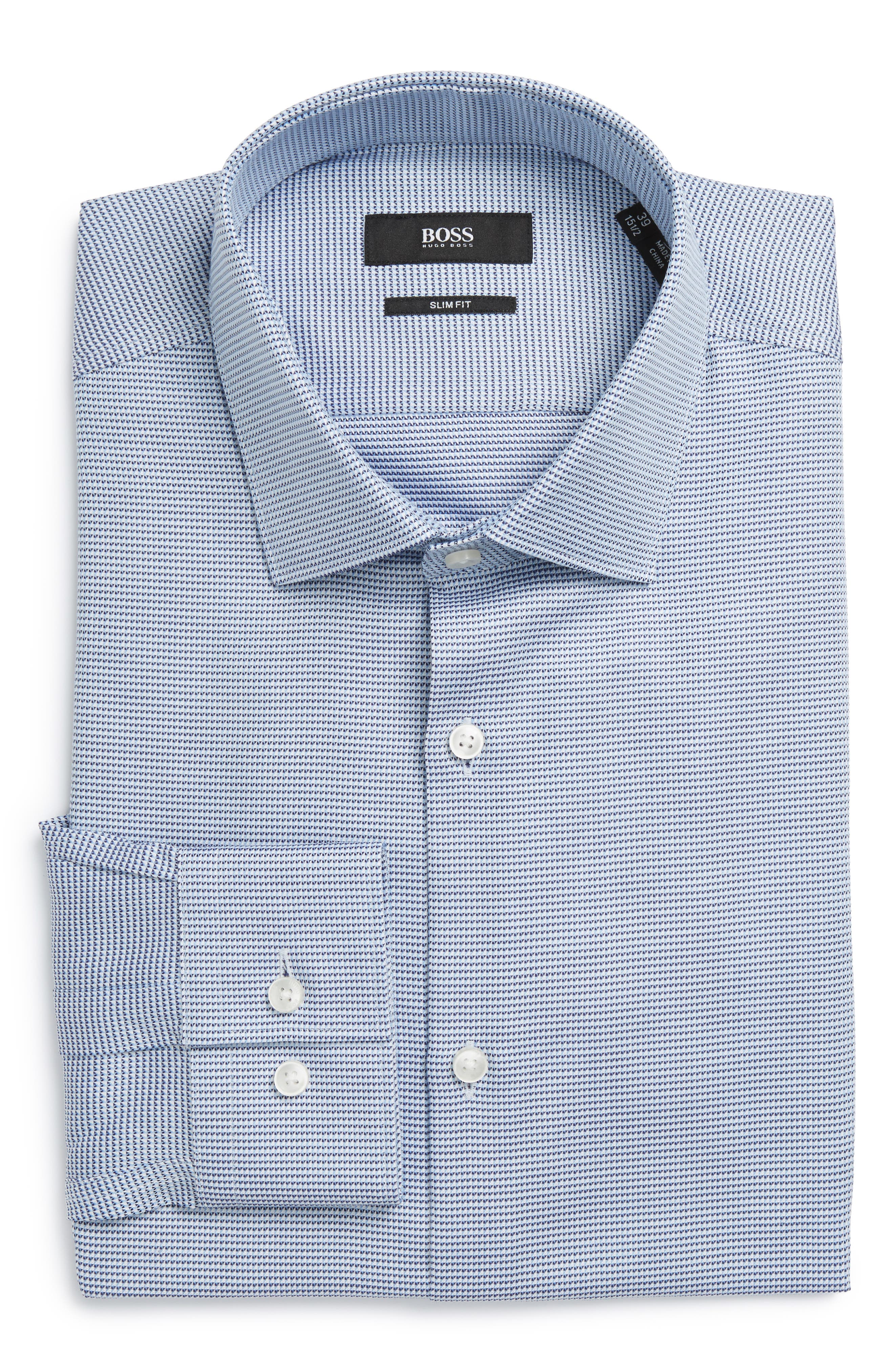 BOSS Ismo Slim Fit Geometric Dress Shirt