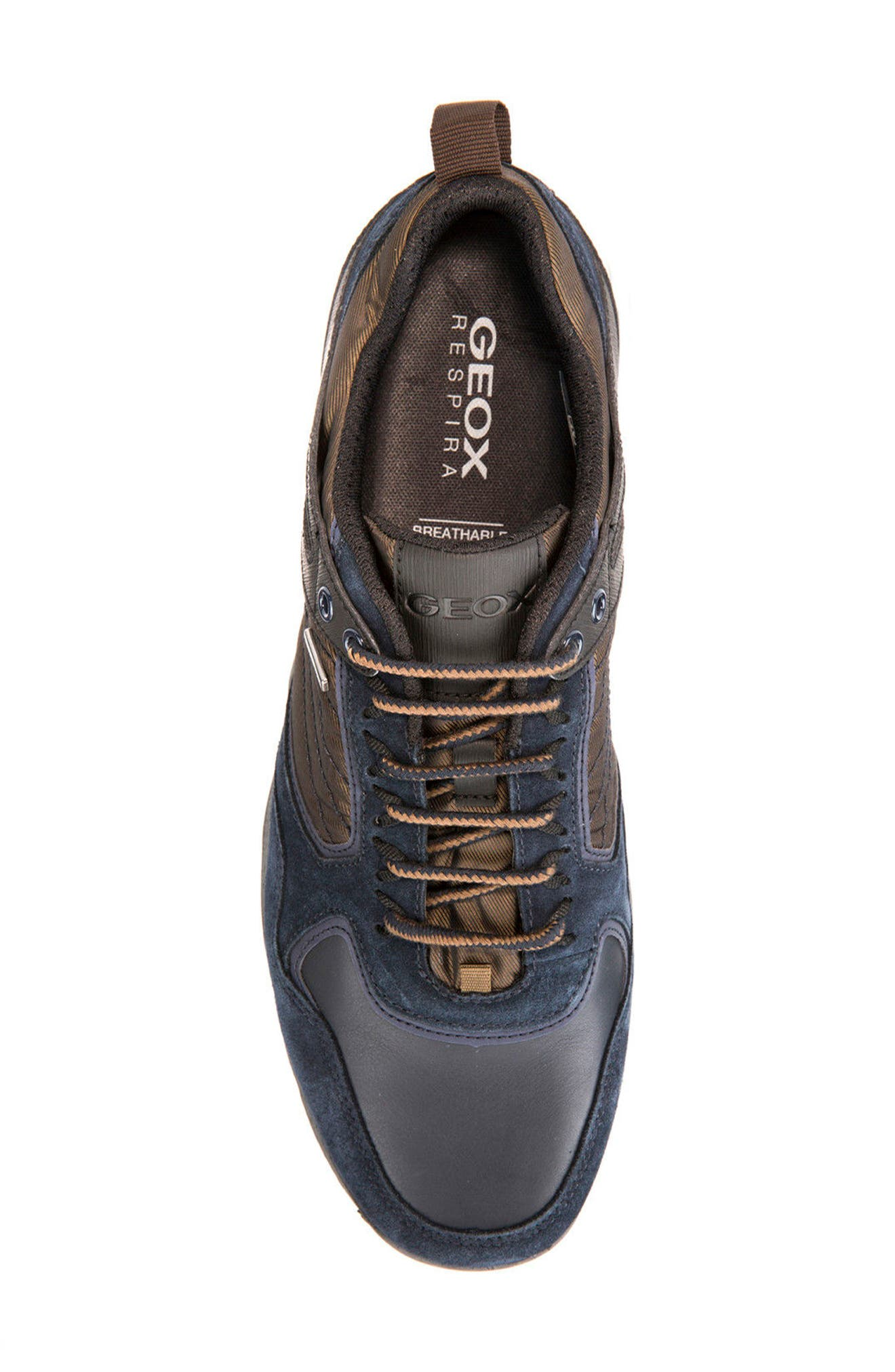 Gegy ABX Waterproof Sneaker,                             Alternate thumbnail 5, color,                             Navy/ Musk