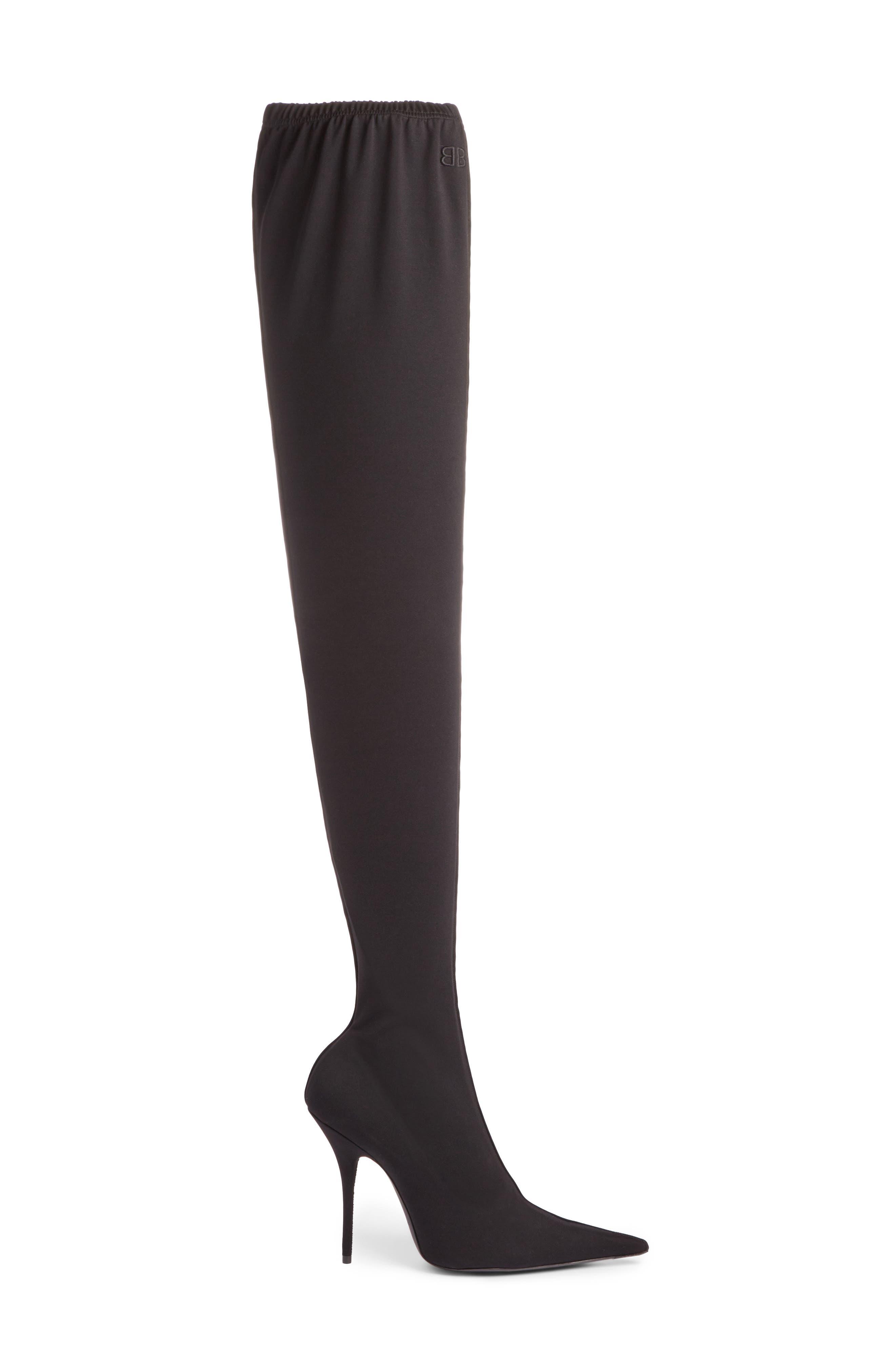 Alternate Image 4  - Balenciaga Thigh High Boot (Women)