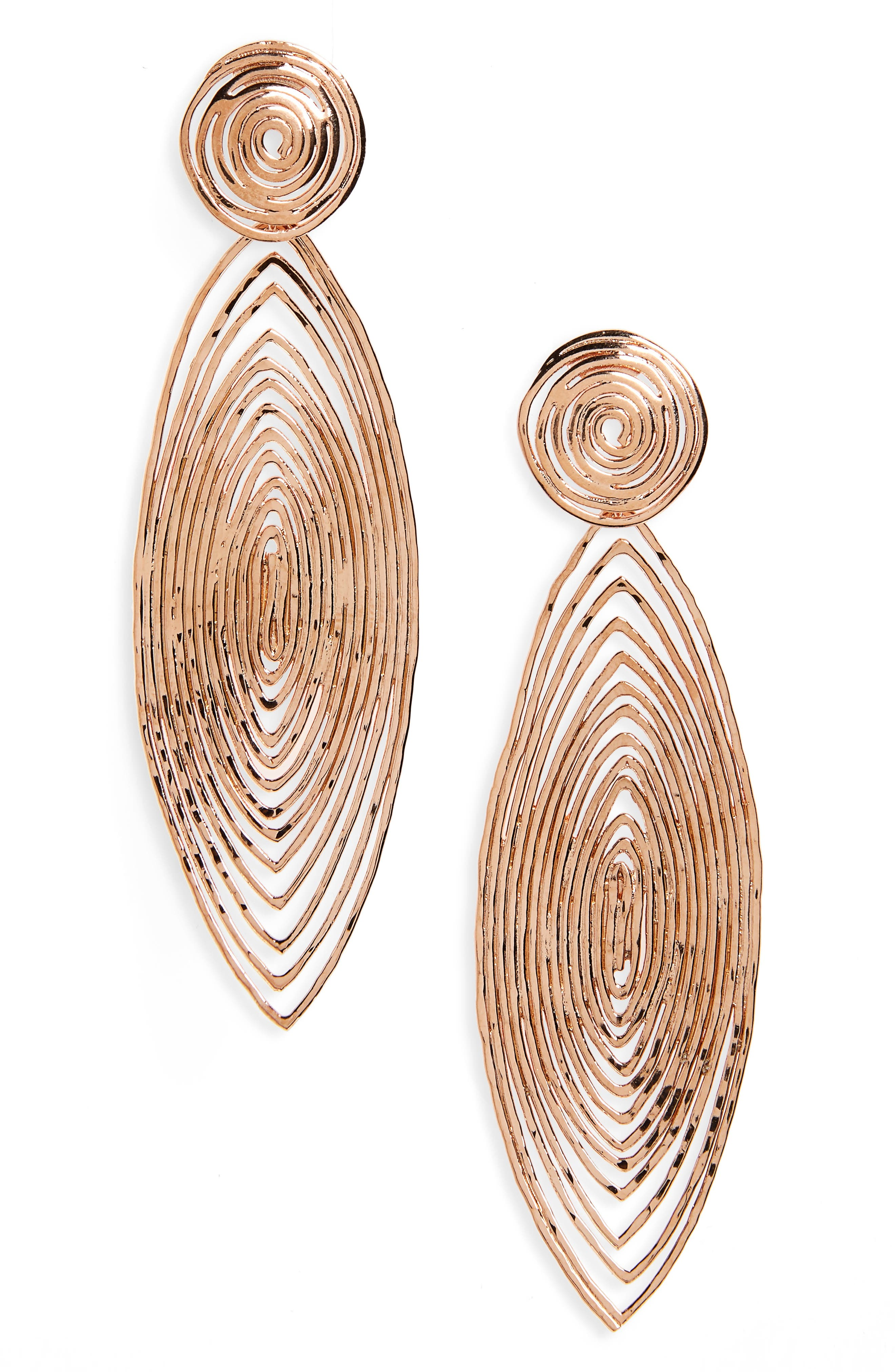 GAS BIJOUX Long Wave Drop Earrings