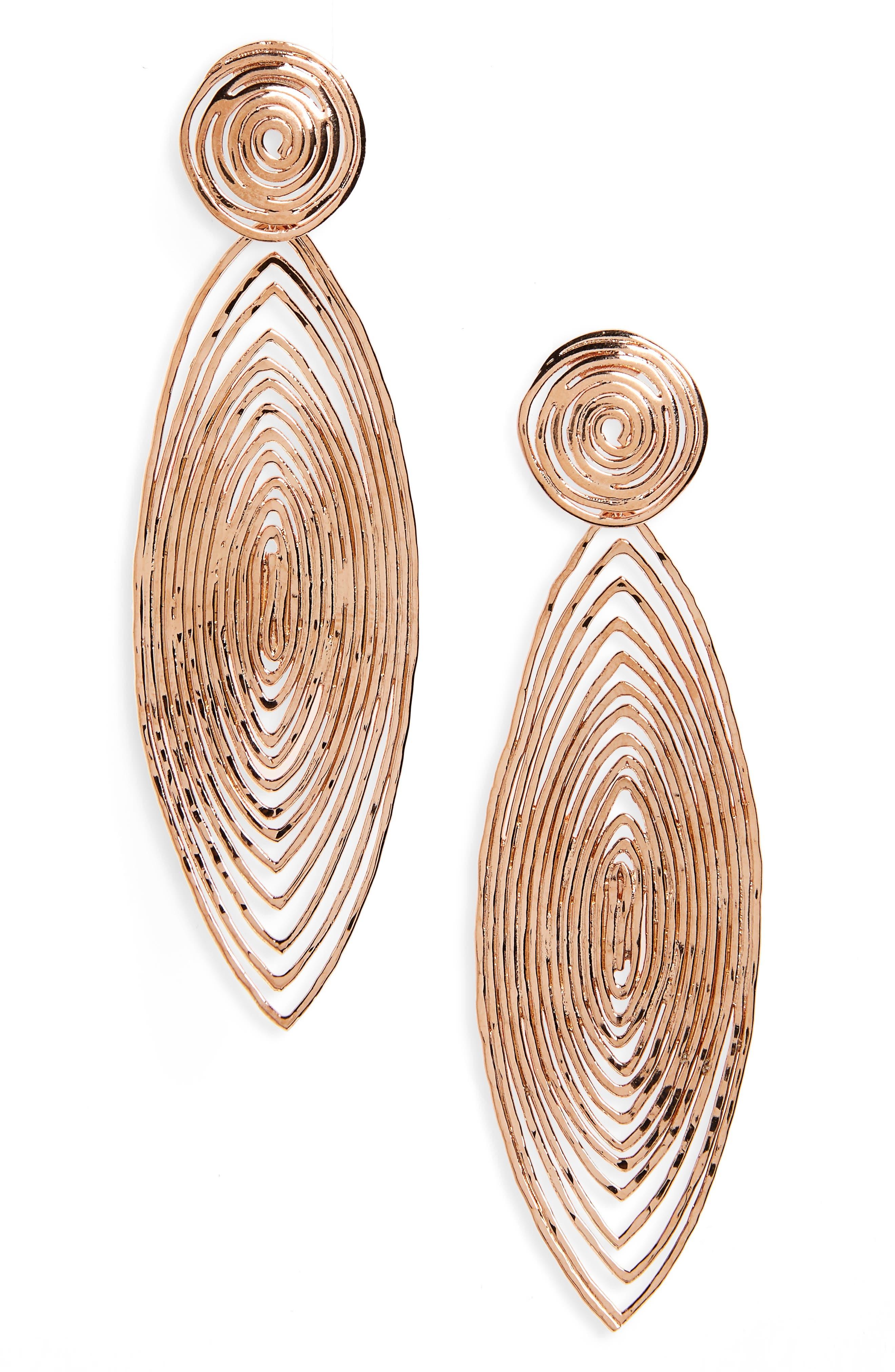 Gas Bijoux 'Long Wave' Drop Earrings