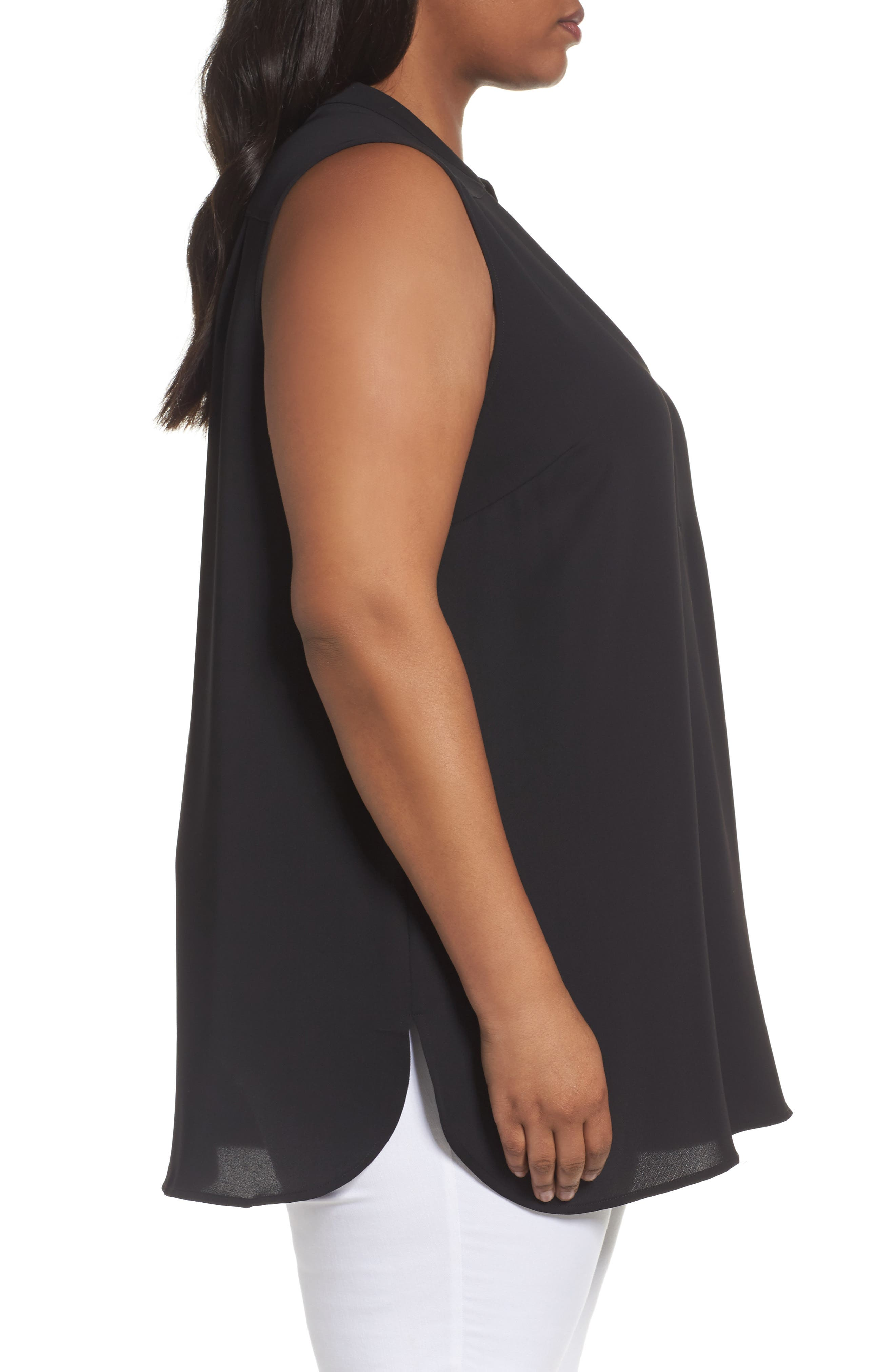 Forget Me Not Top,                             Alternate thumbnail 3, color,                             Black Onyx