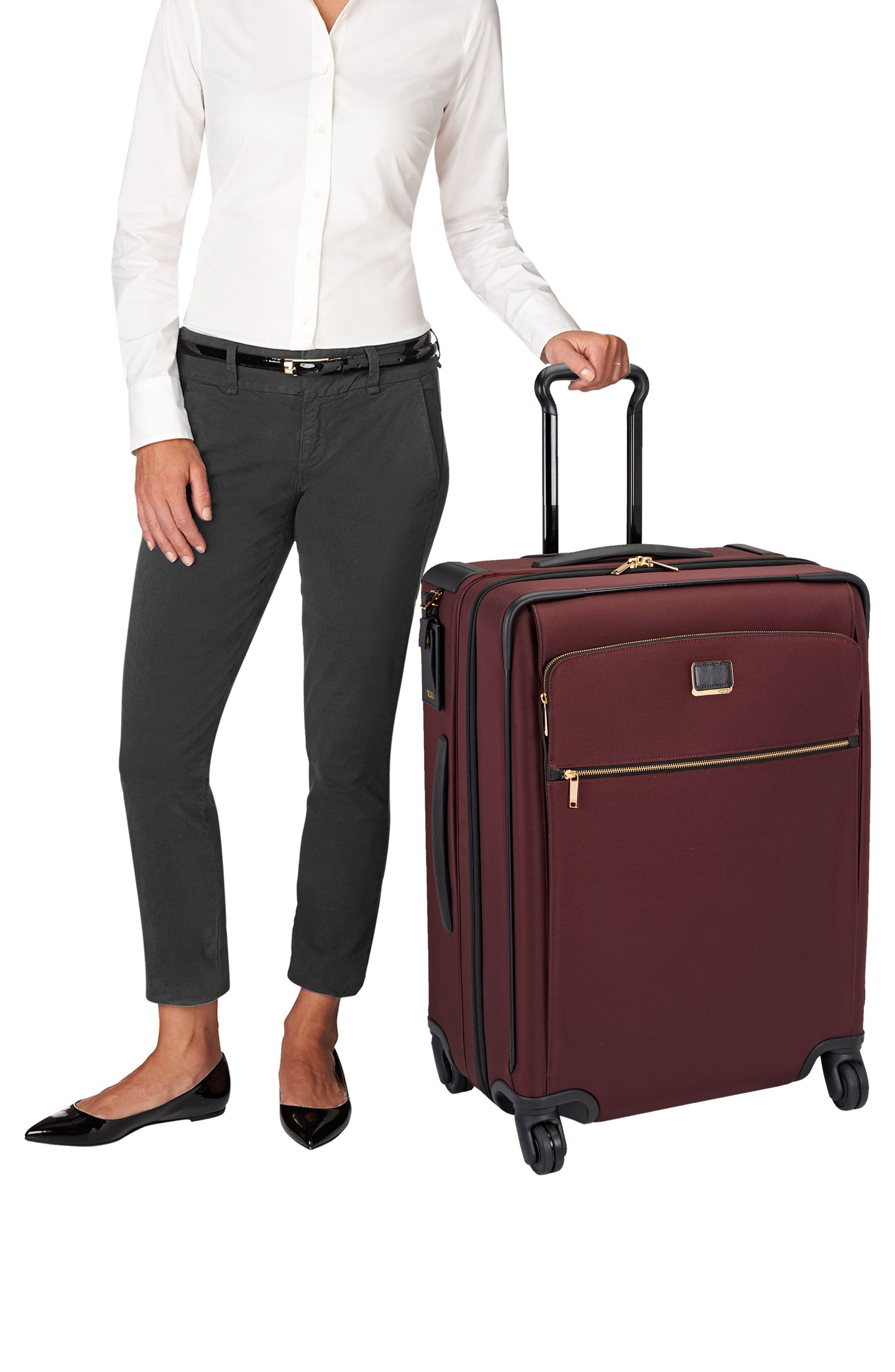 Jess Short Trip Expandable 26-Inch 4-Wheel Suitcase,                             Alternate thumbnail 2, color,                             Bordeaux