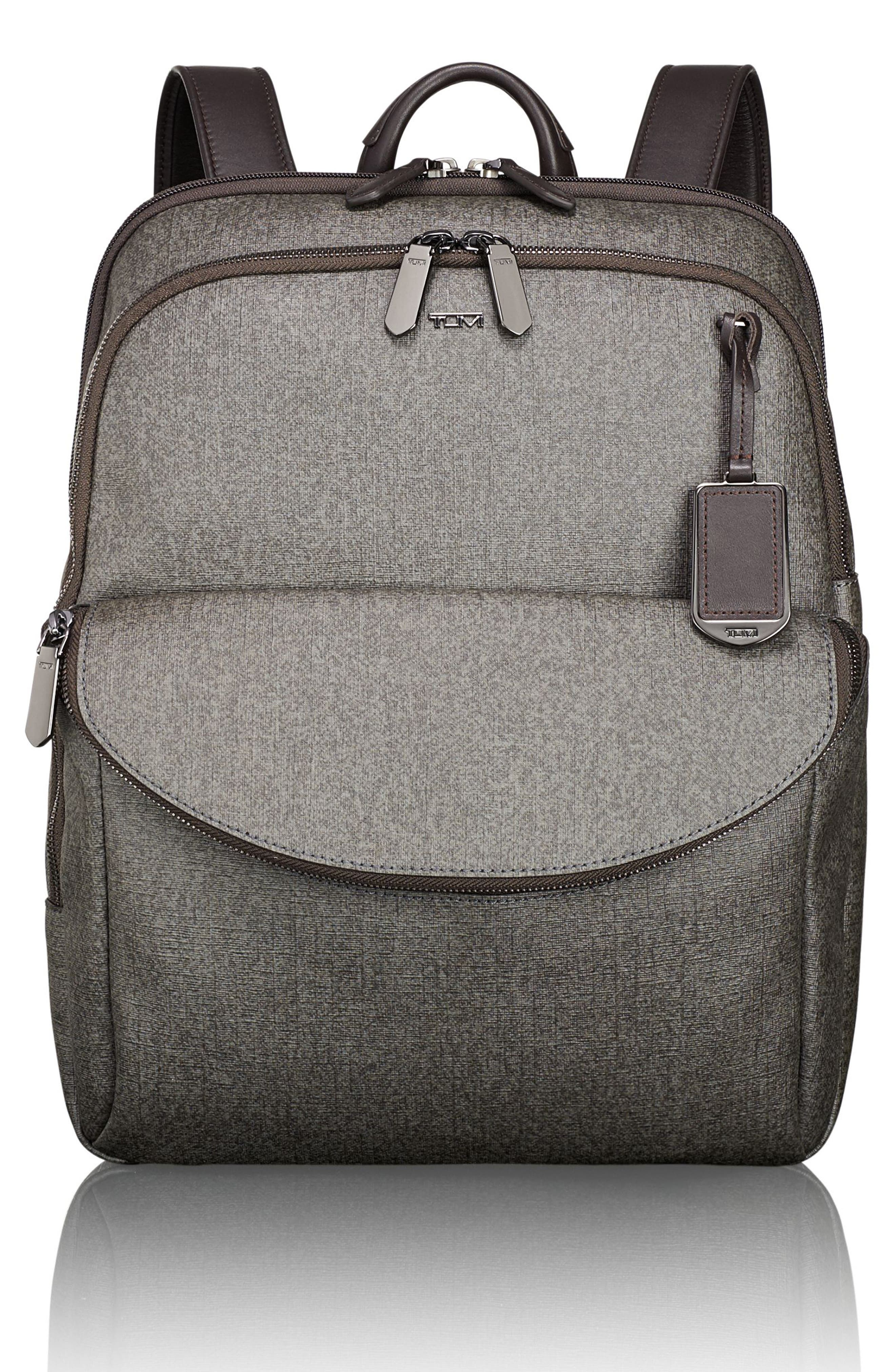 Sinclair - Hanne Coated Canvas Laptop Backpack,                         Main,                         color, Earl Grey