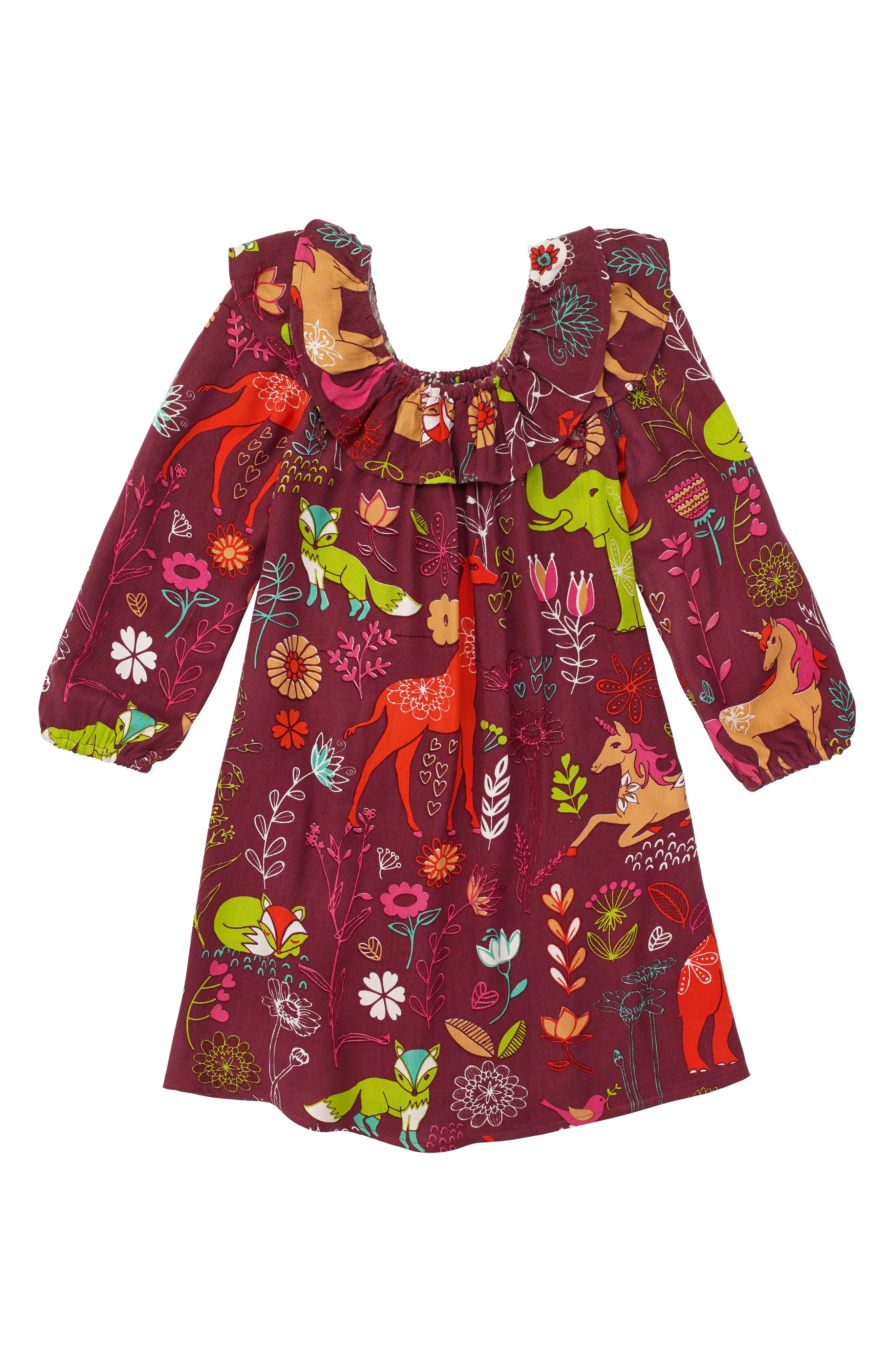 Alternate Image 1 Selected - Masalababy Magic Forest Print Dress (Toddler Girls, Little Girls & Big Girls)