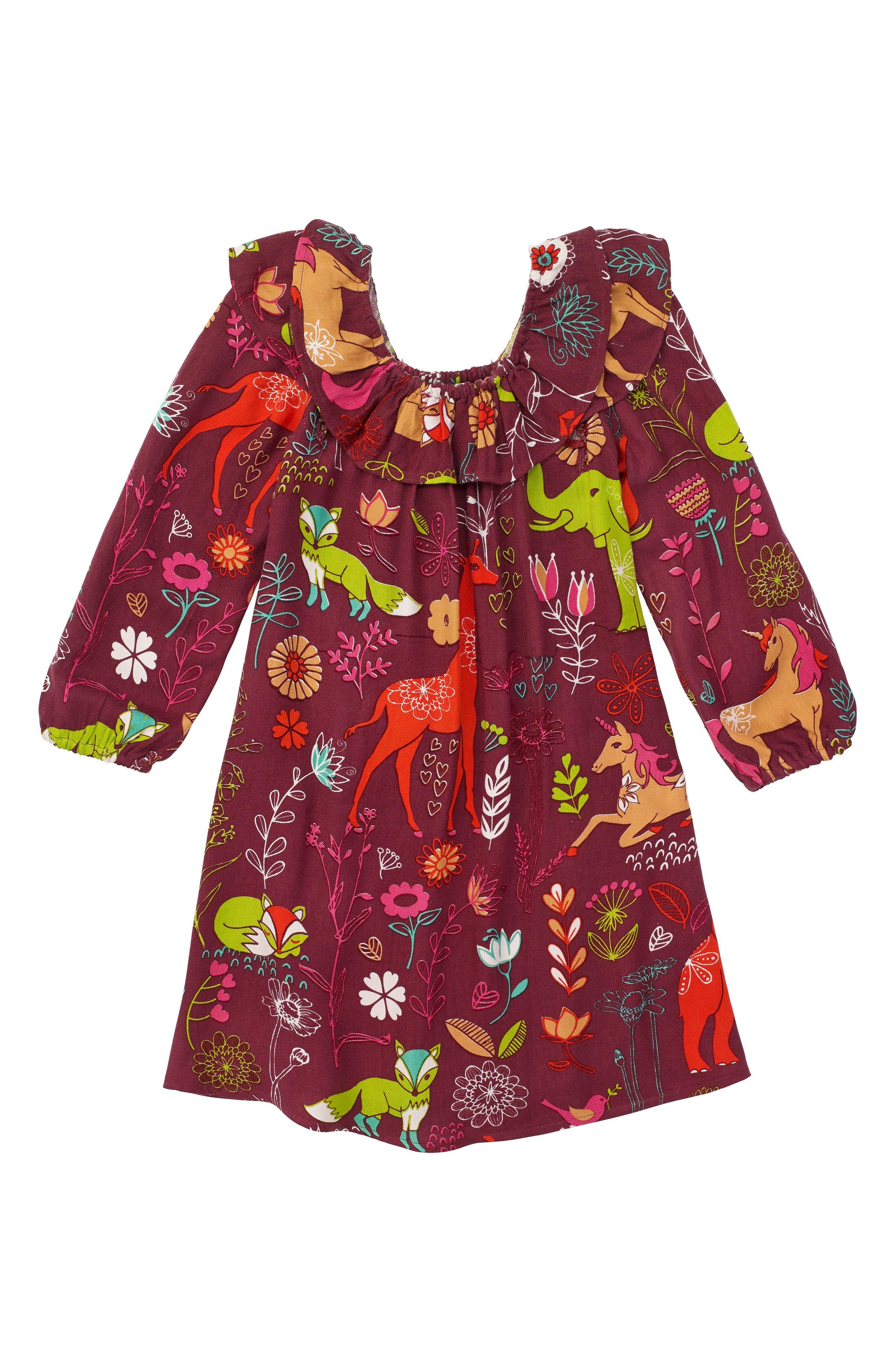 Main Image - Masalababy Magic Forest Print Dress (Toddler Girls, Little Girls & Big Girls)
