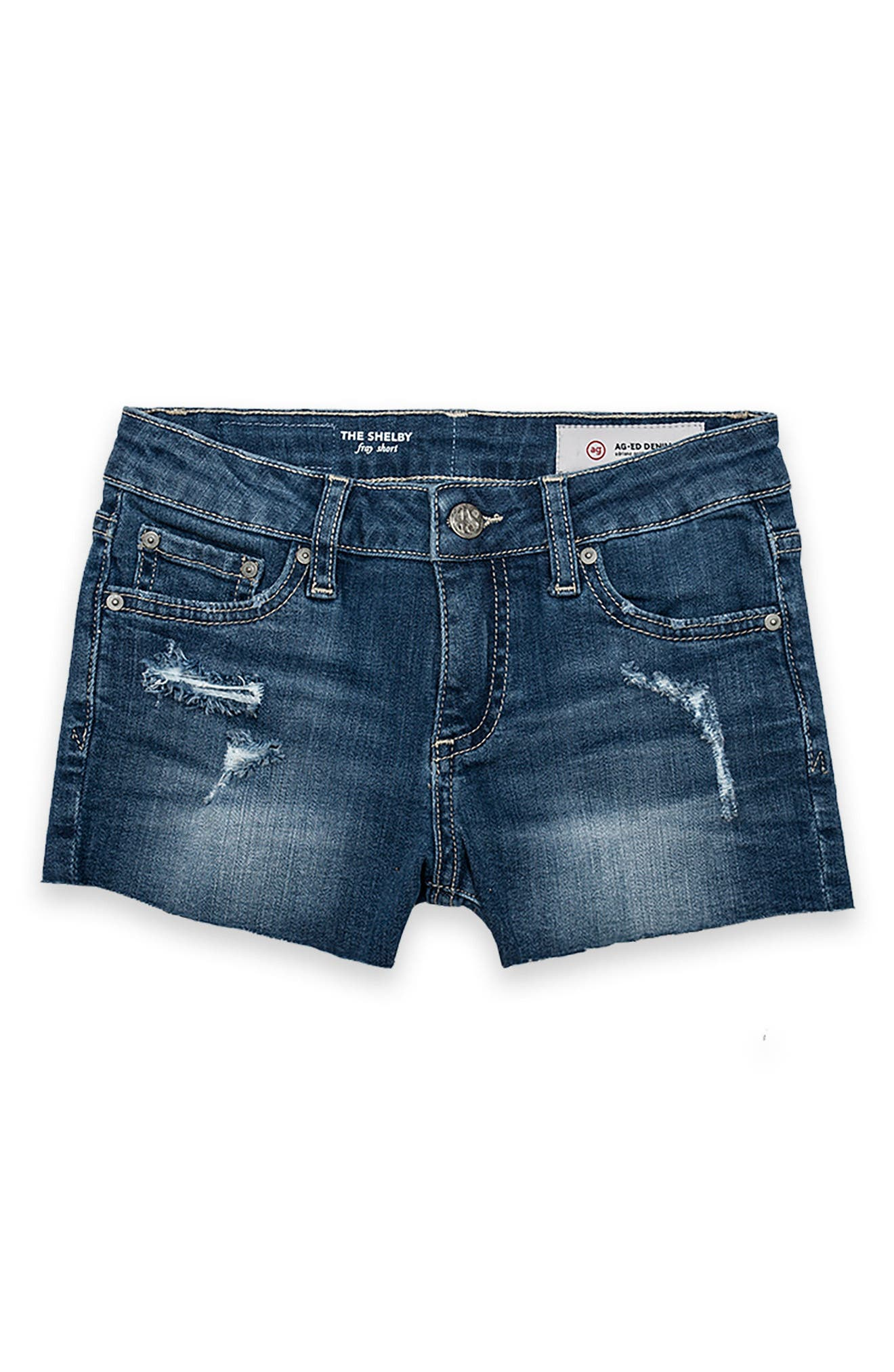 Alternate Image 1 Selected - ag adriano goldschmied kids Shelby Cutoff Shorts (Big Girls)