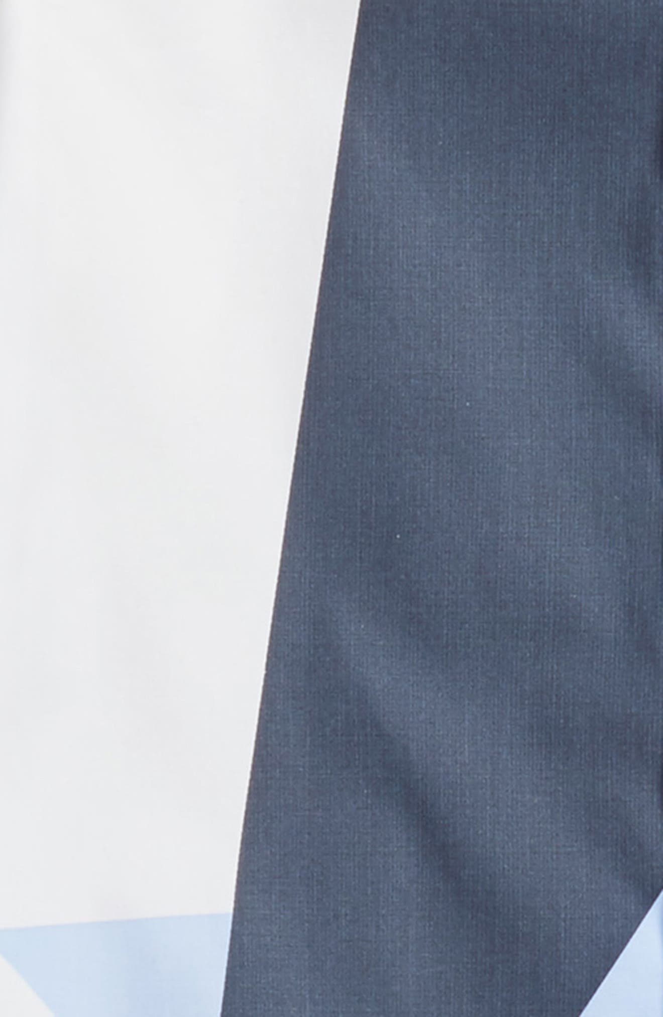 Geo Print Dress Shirt,                             Alternate thumbnail 2, color,                             White