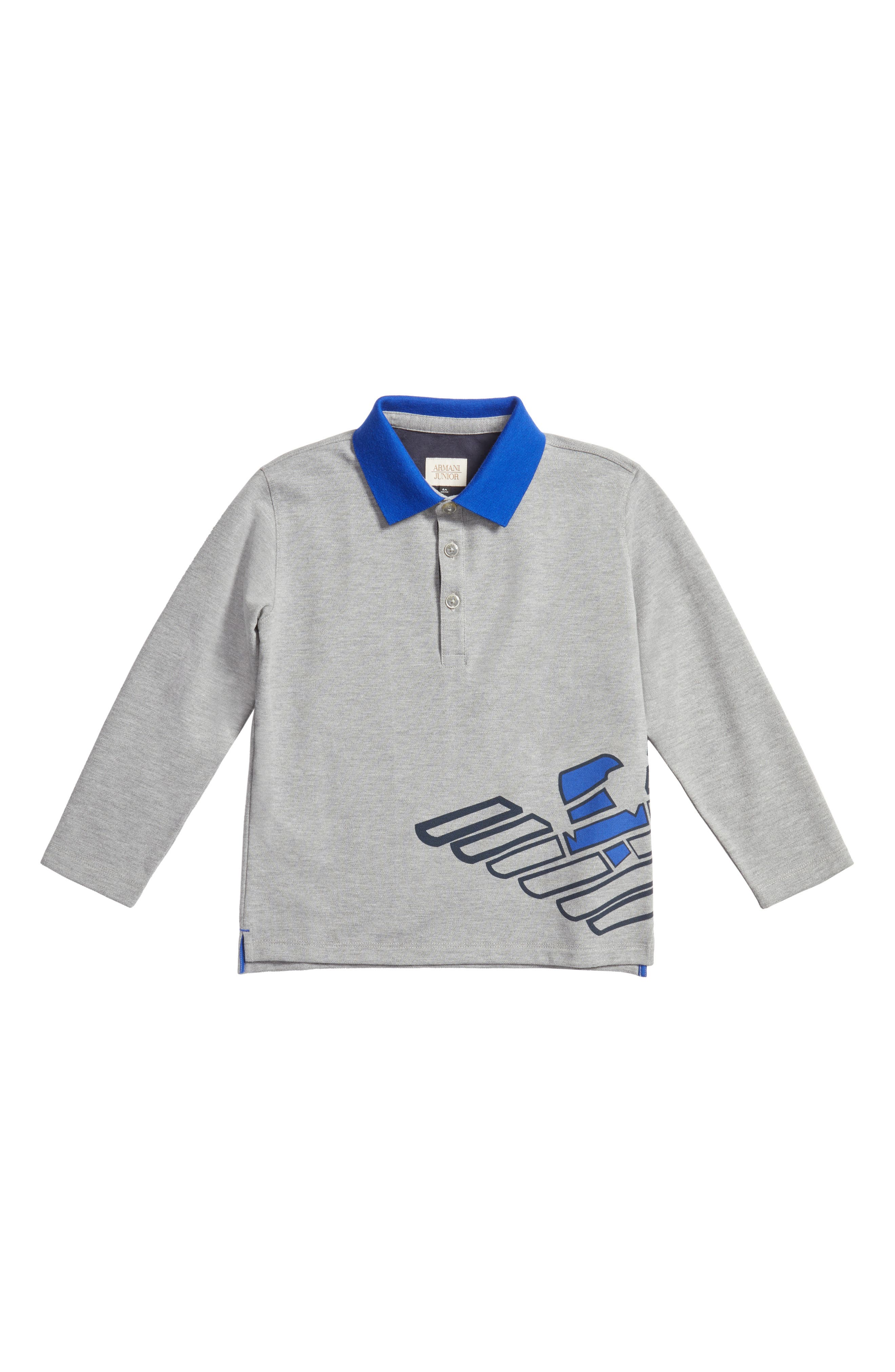 Logo Graphic Polo Shirt,                         Main,                         color, Grey