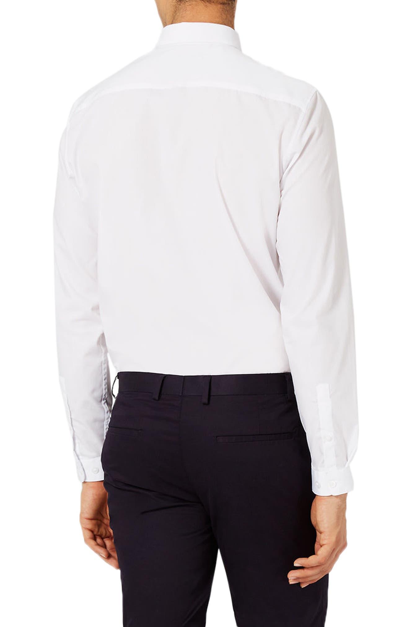 Slim Fit Dress Shirt,                             Alternate thumbnail 4, color,                             White