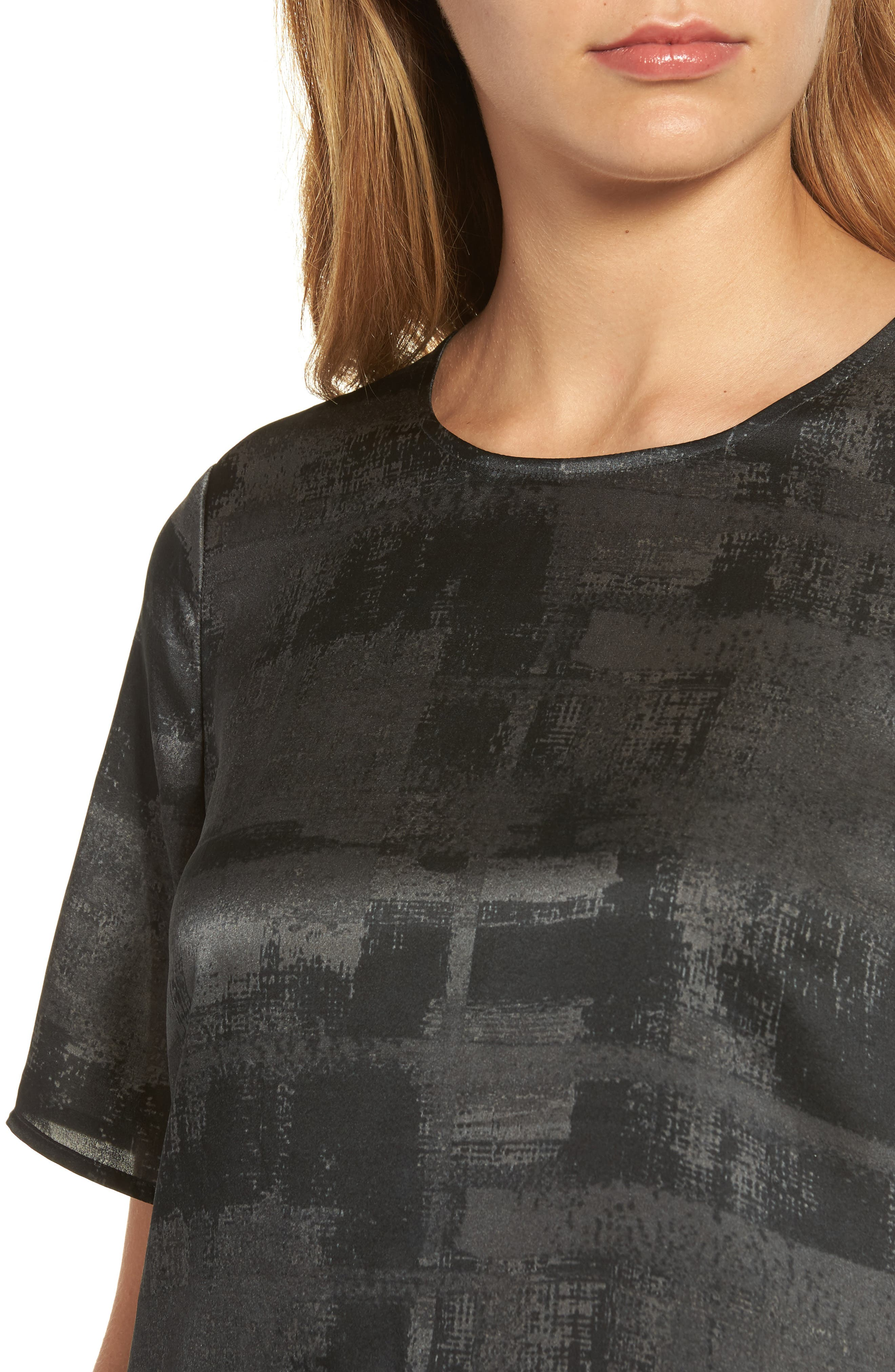 Alternate Image 4  - Eileen Fisher Print Silk Top