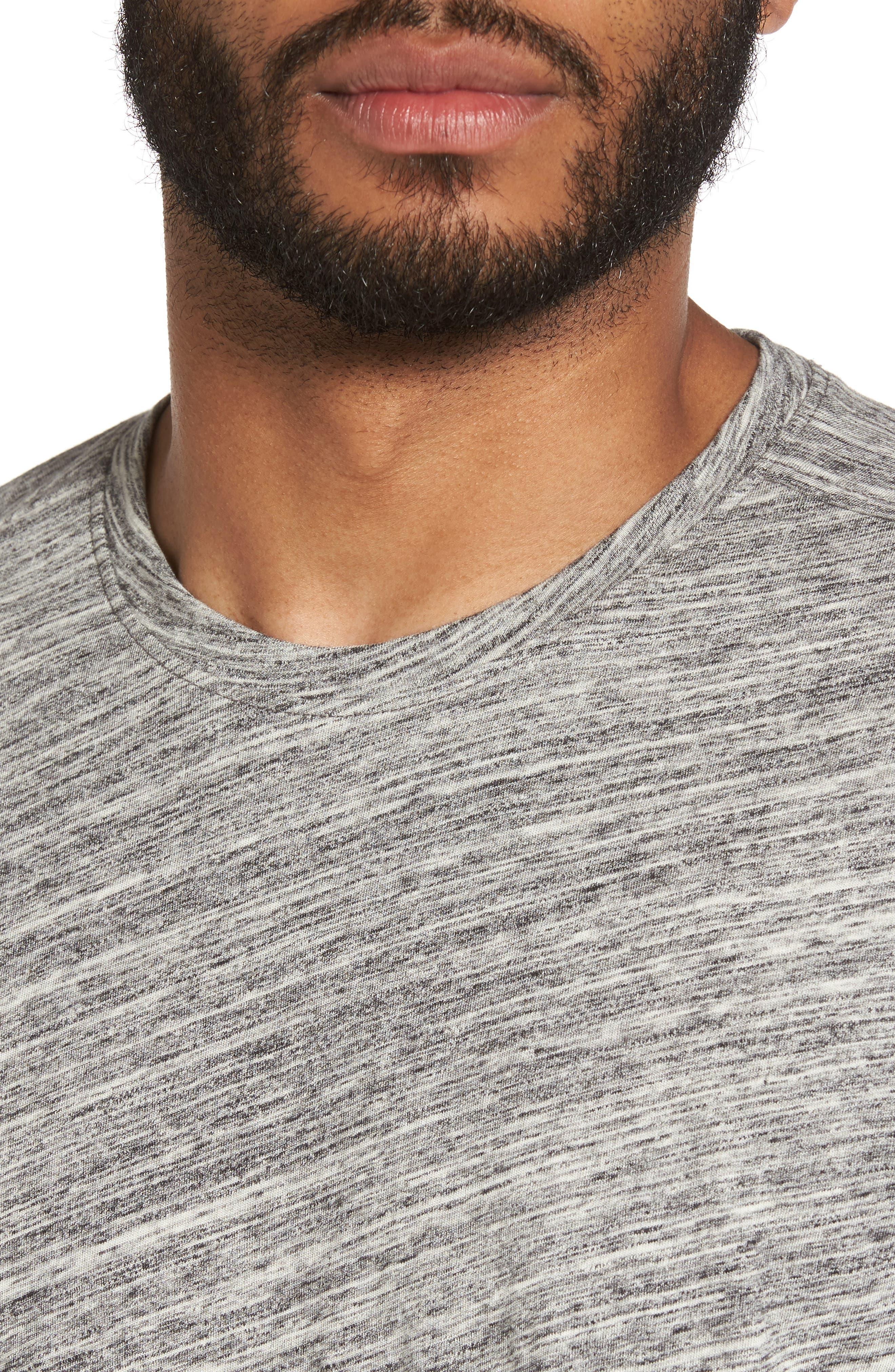 Texture T-Shirt,                             Alternate thumbnail 4, color,                             Ivory Egret Spacedye