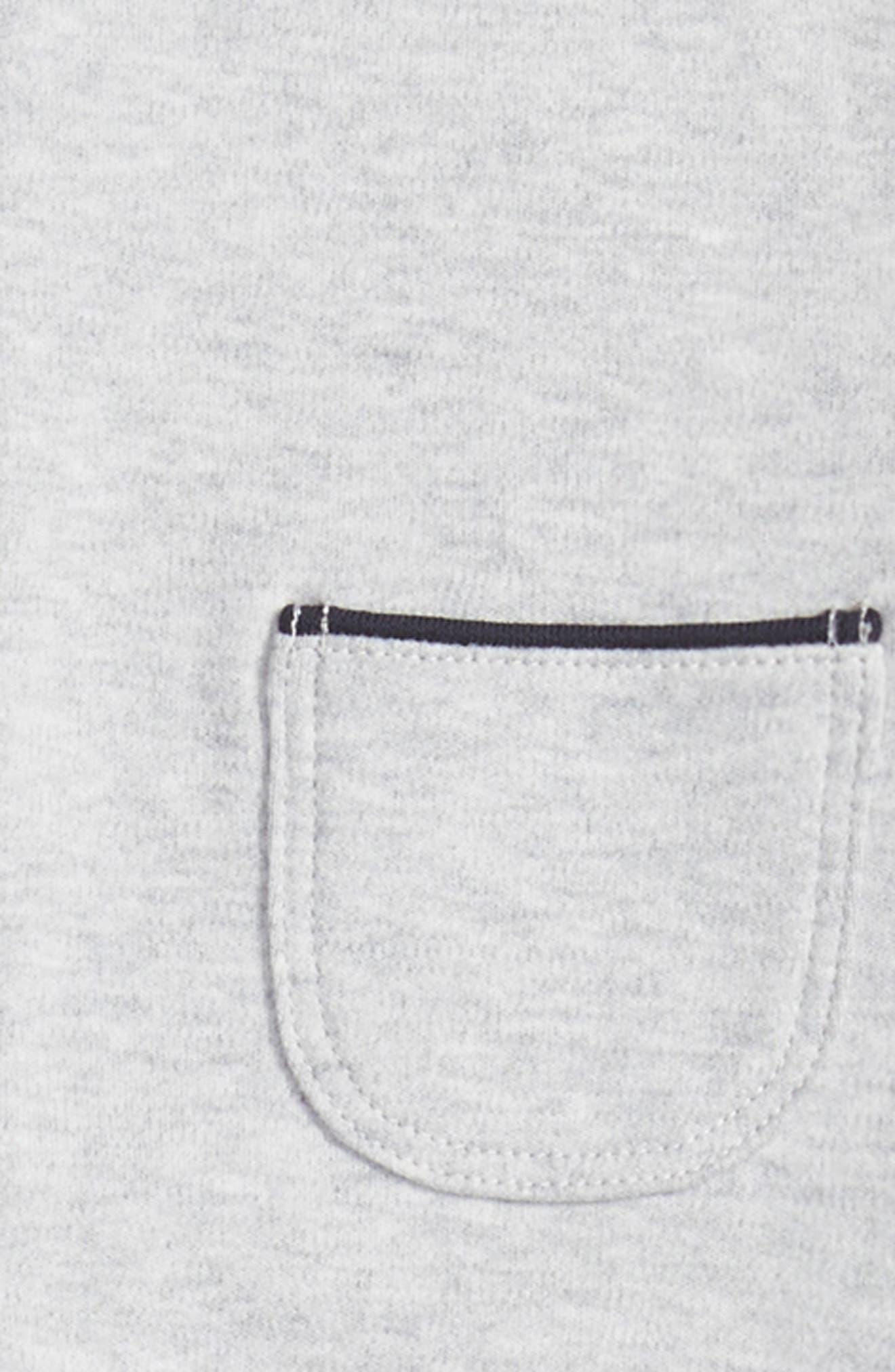 Shirt & Cardigan Footie,                             Alternate thumbnail 2, color,                             Grey