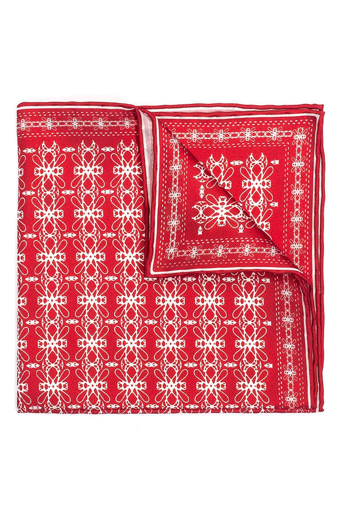 hook + ALBERT Filigreed Silk Pocket Square