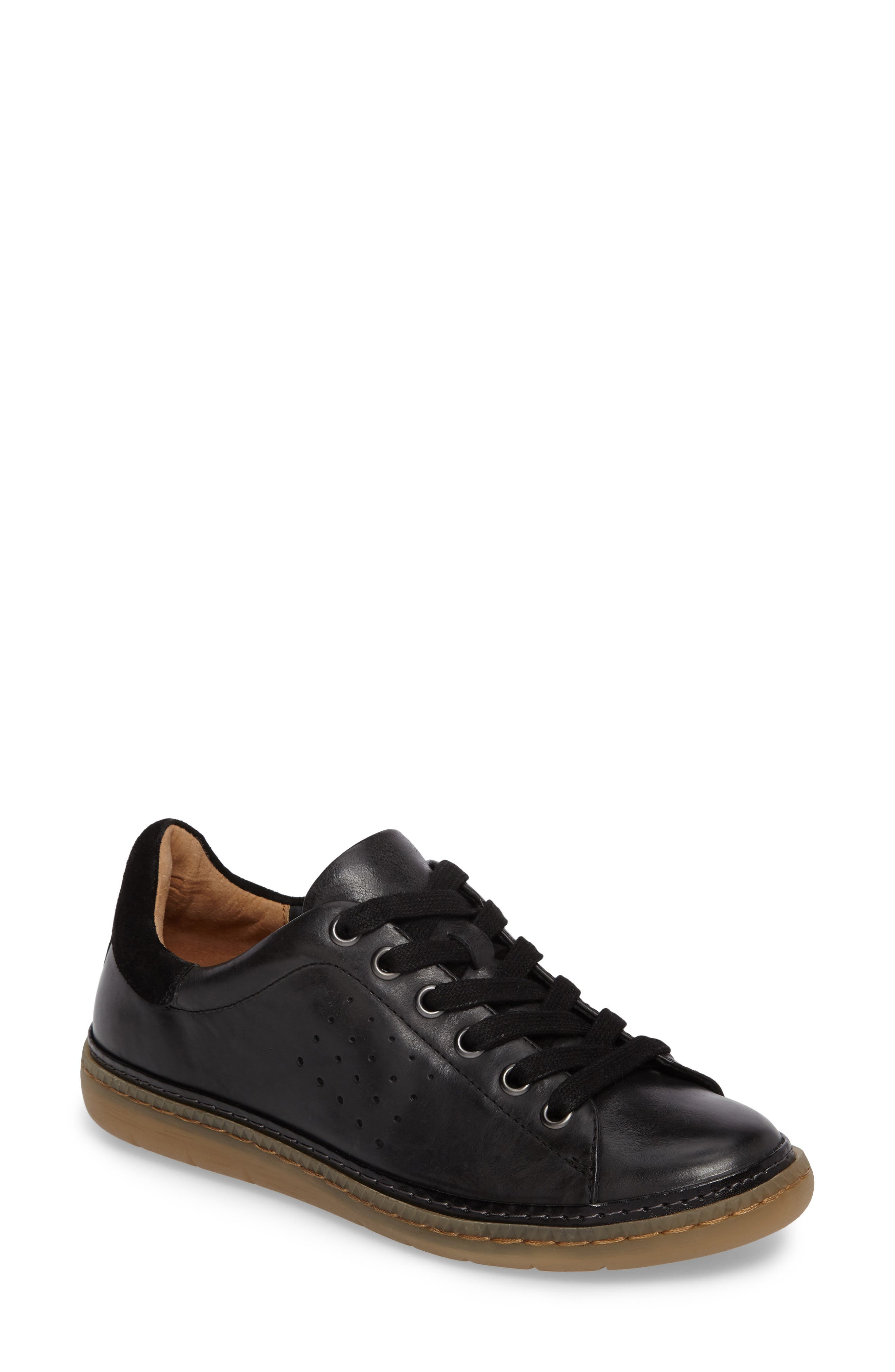Arianna Sneaker,                         Main,                         color, Black Leather
