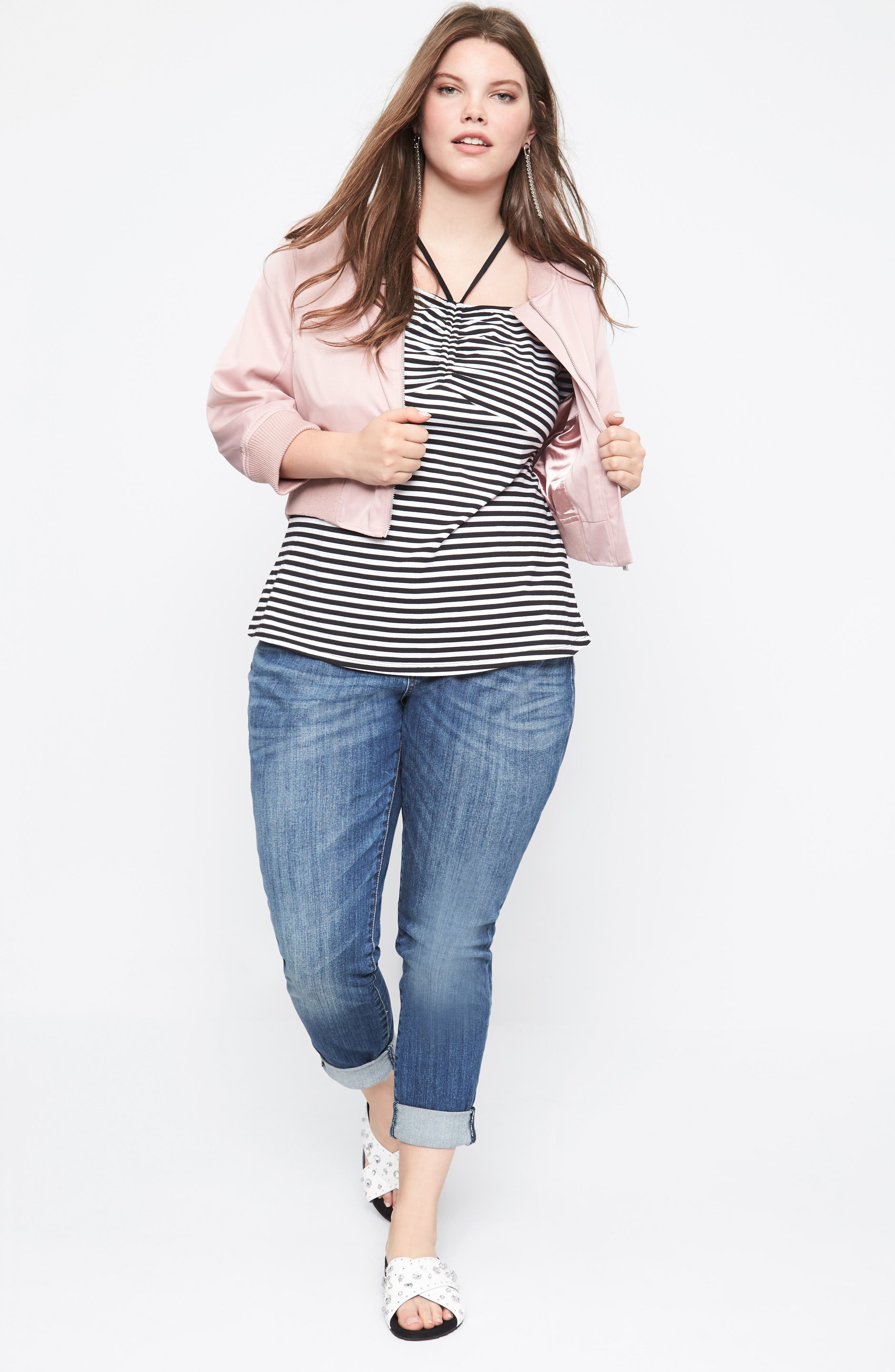 City Chic Jacket, Top & KUT from the Kloth Jeans Outfit with Accessories (Plus Size)