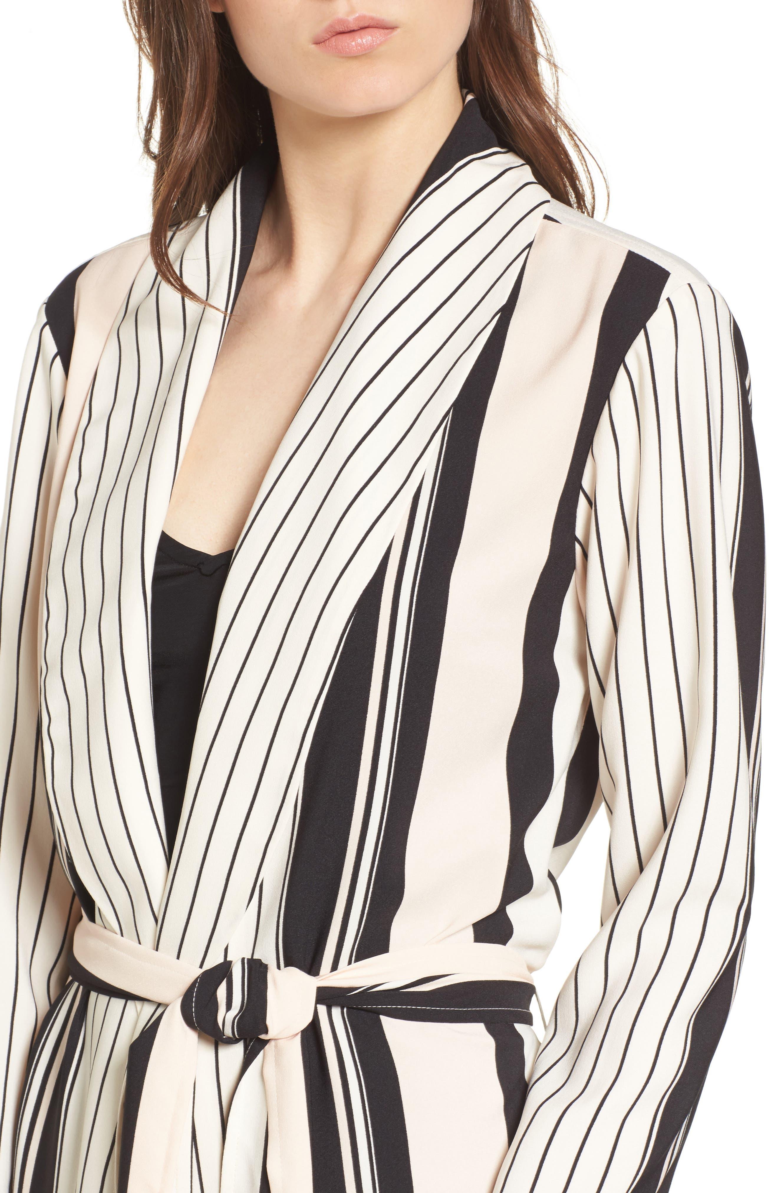 Alternate Image 4  - Trouvé Stripe Longline Jacket