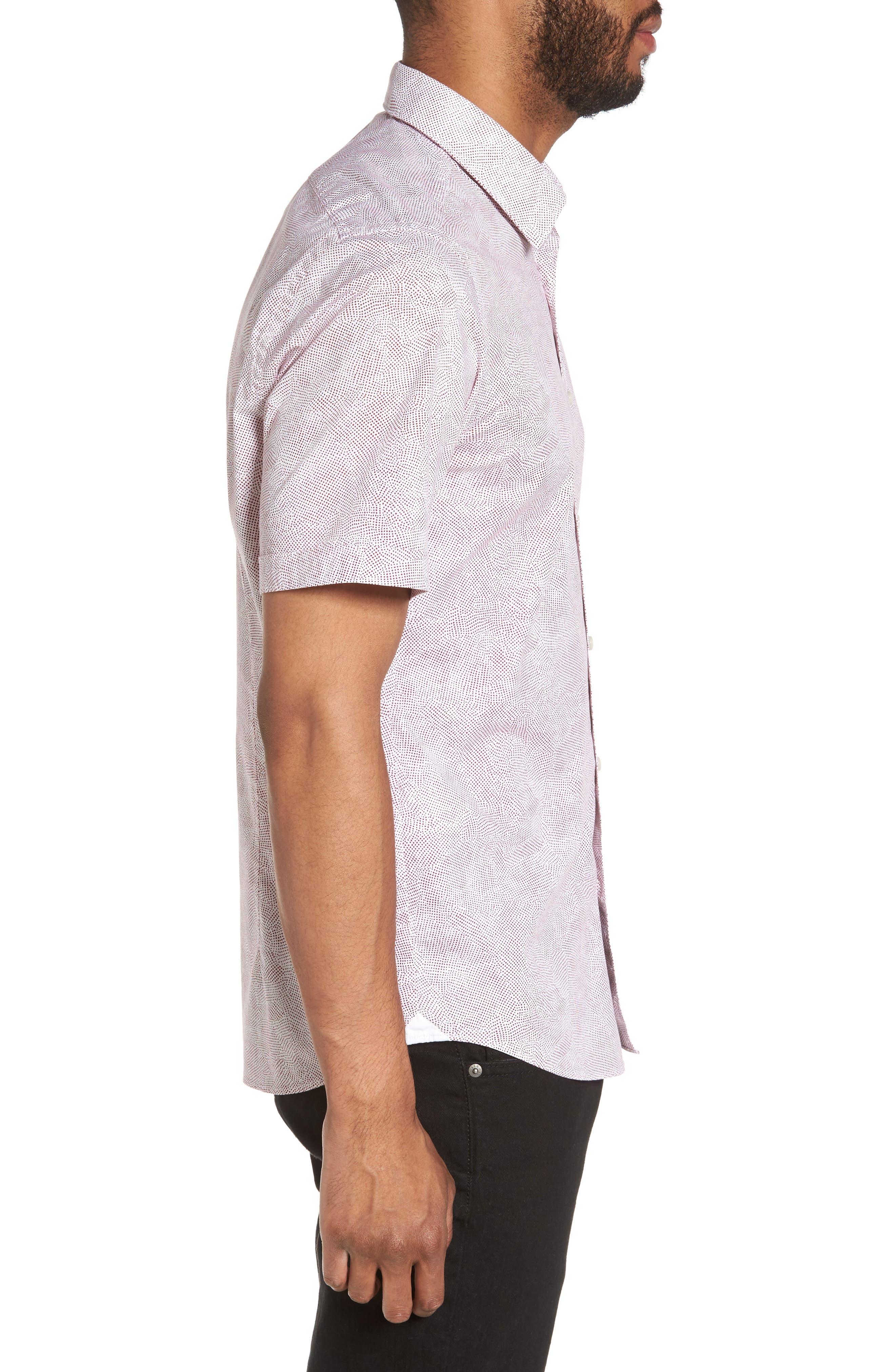 Alternate Image 3  - BOSS Luka Trim Fit Dot Print Sport Shirt