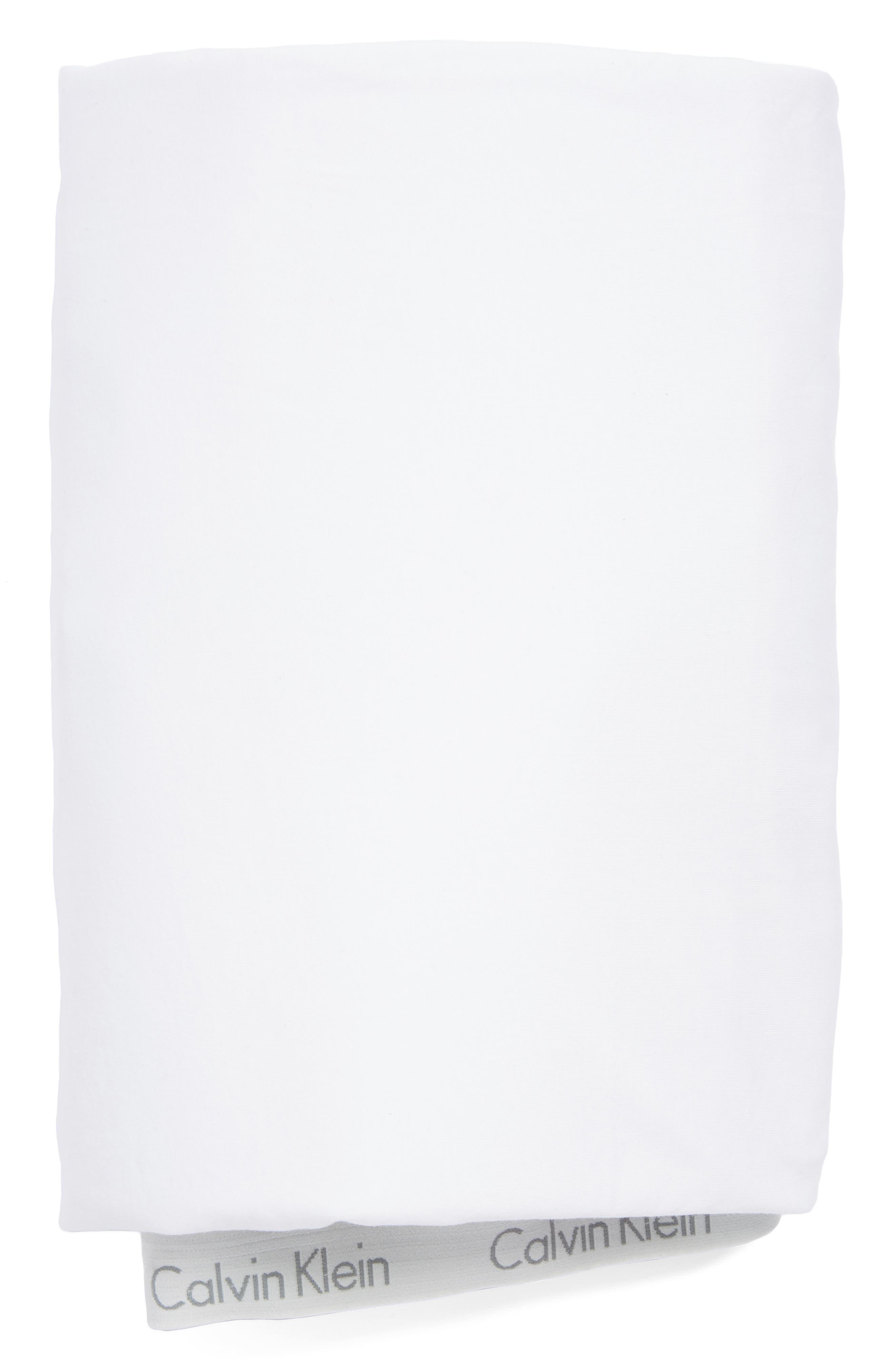 Calvin Klein Home Modern Cotton Collection Cotton & Modal Fitted Sheet