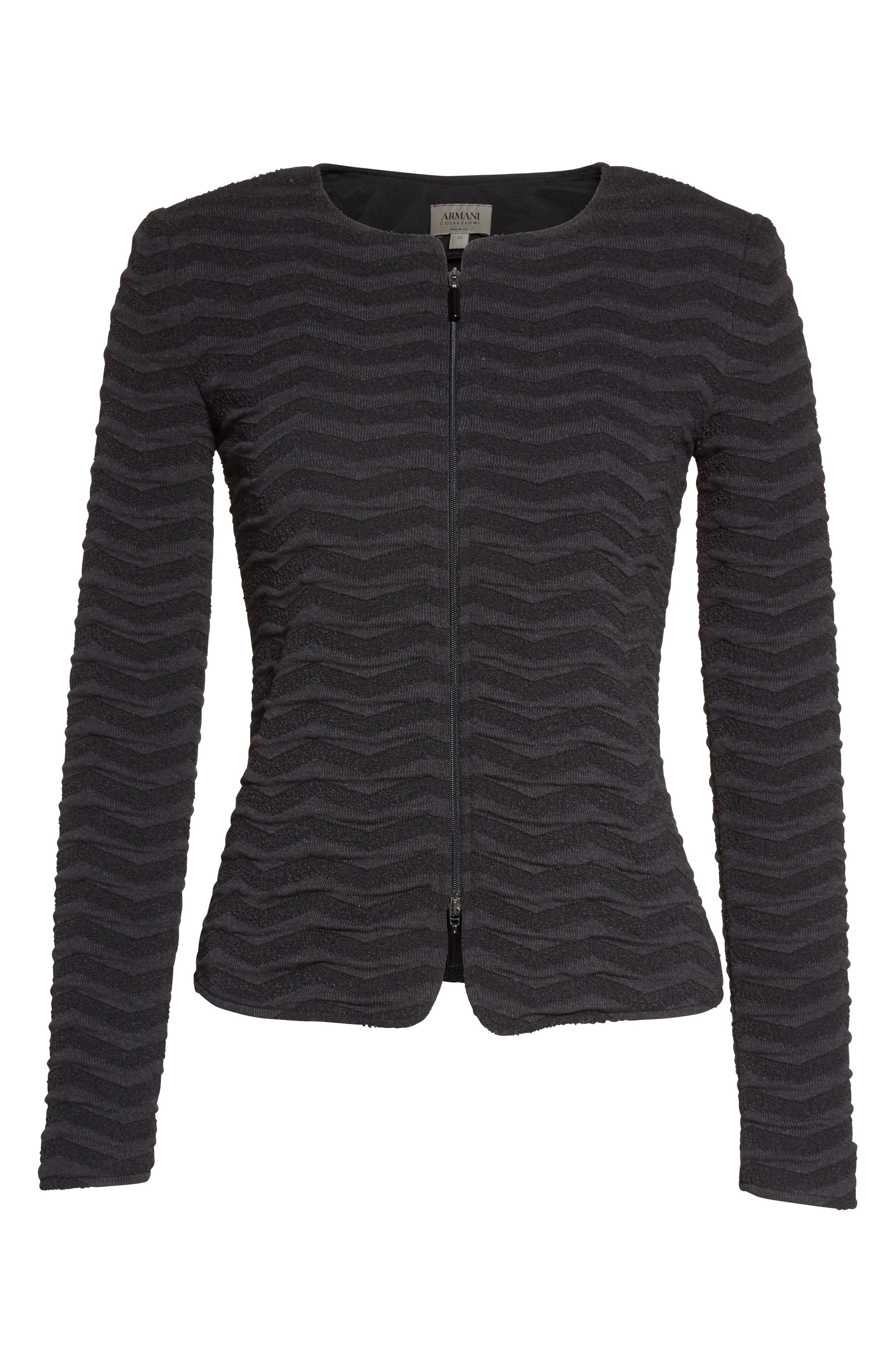 Alternate Image 4  - Armani Collezioni Embossed Jacquard Jersey Jacket