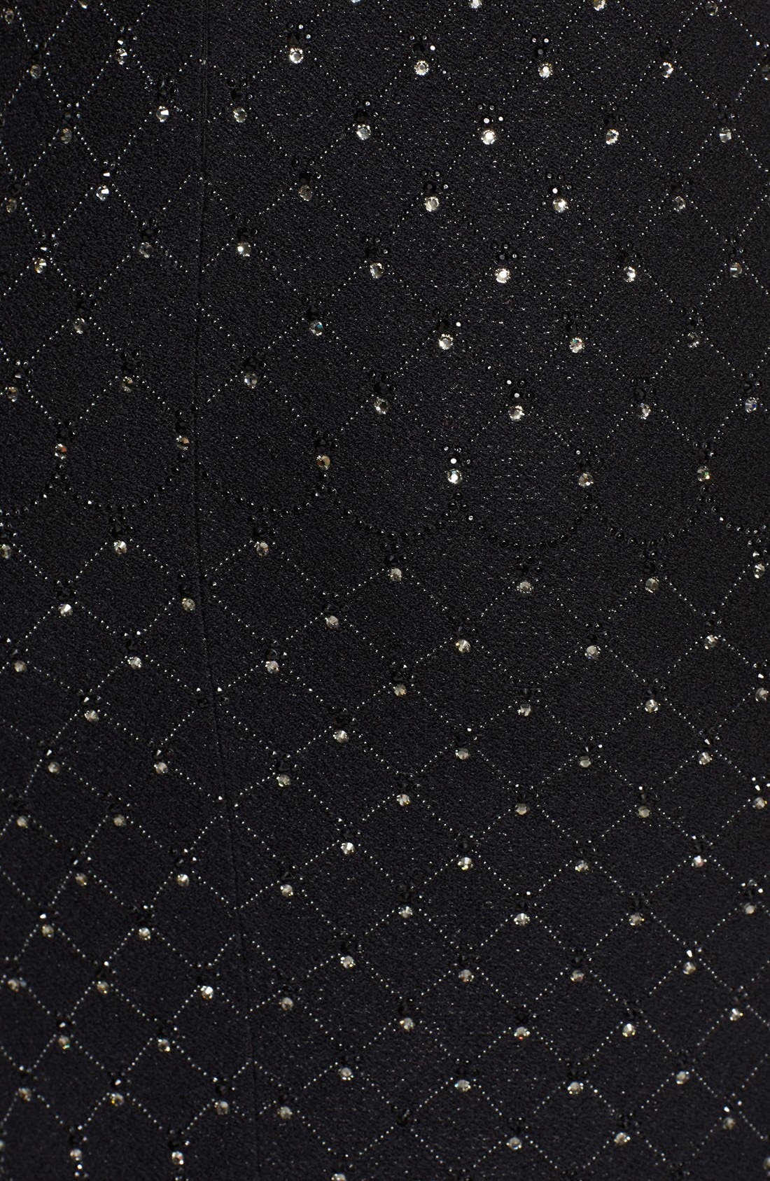 Alternate Image 3  - St. John Collection Embellished Shimmer Knit Gown