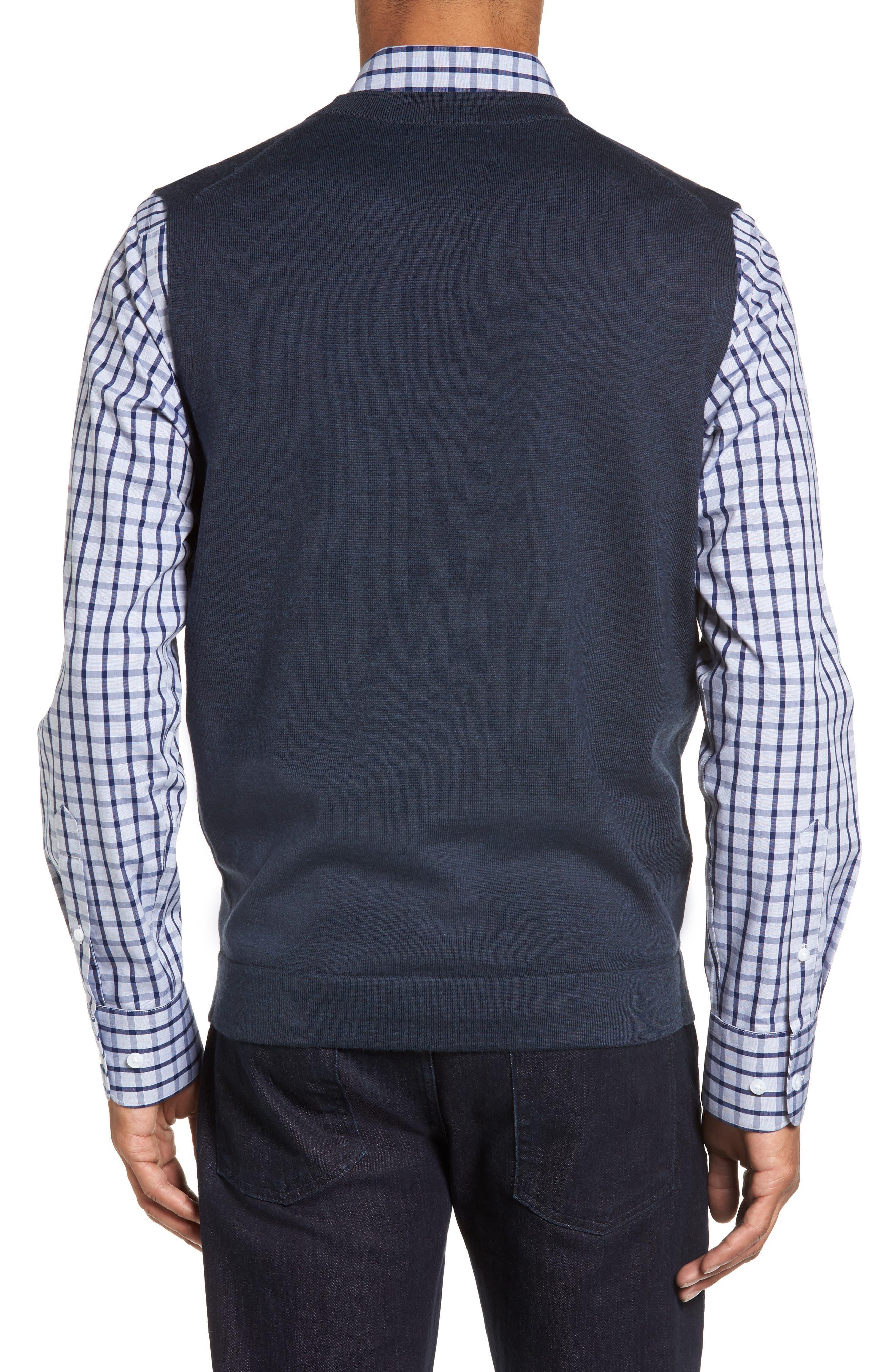 Alternate Image 2  - Nordstrom Men's Shop Merino Button Front Sweater Vest