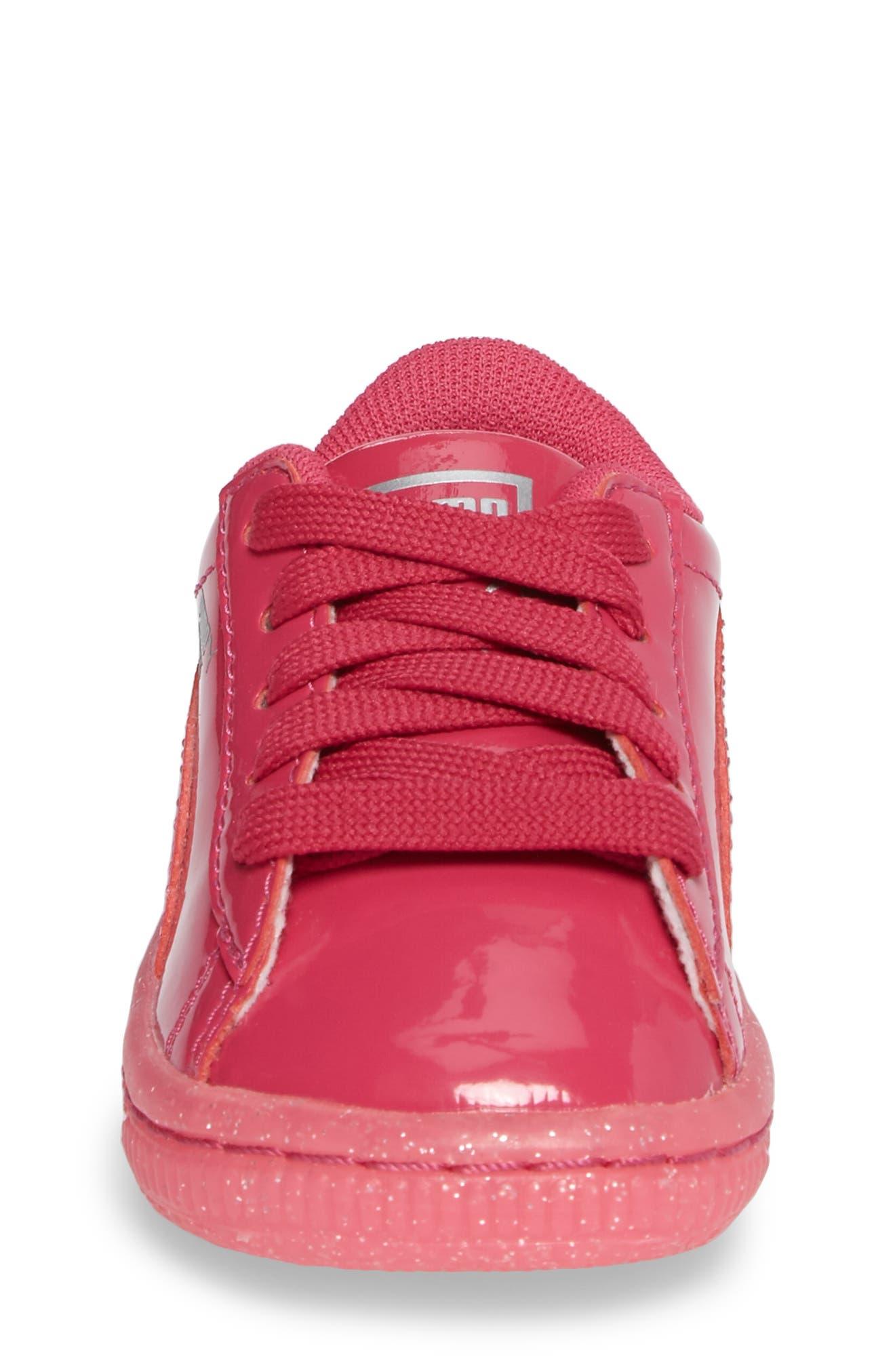 Basket Iced Glitter Sneaker,                             Alternate thumbnail 4, color,                             Beetroot Purple
