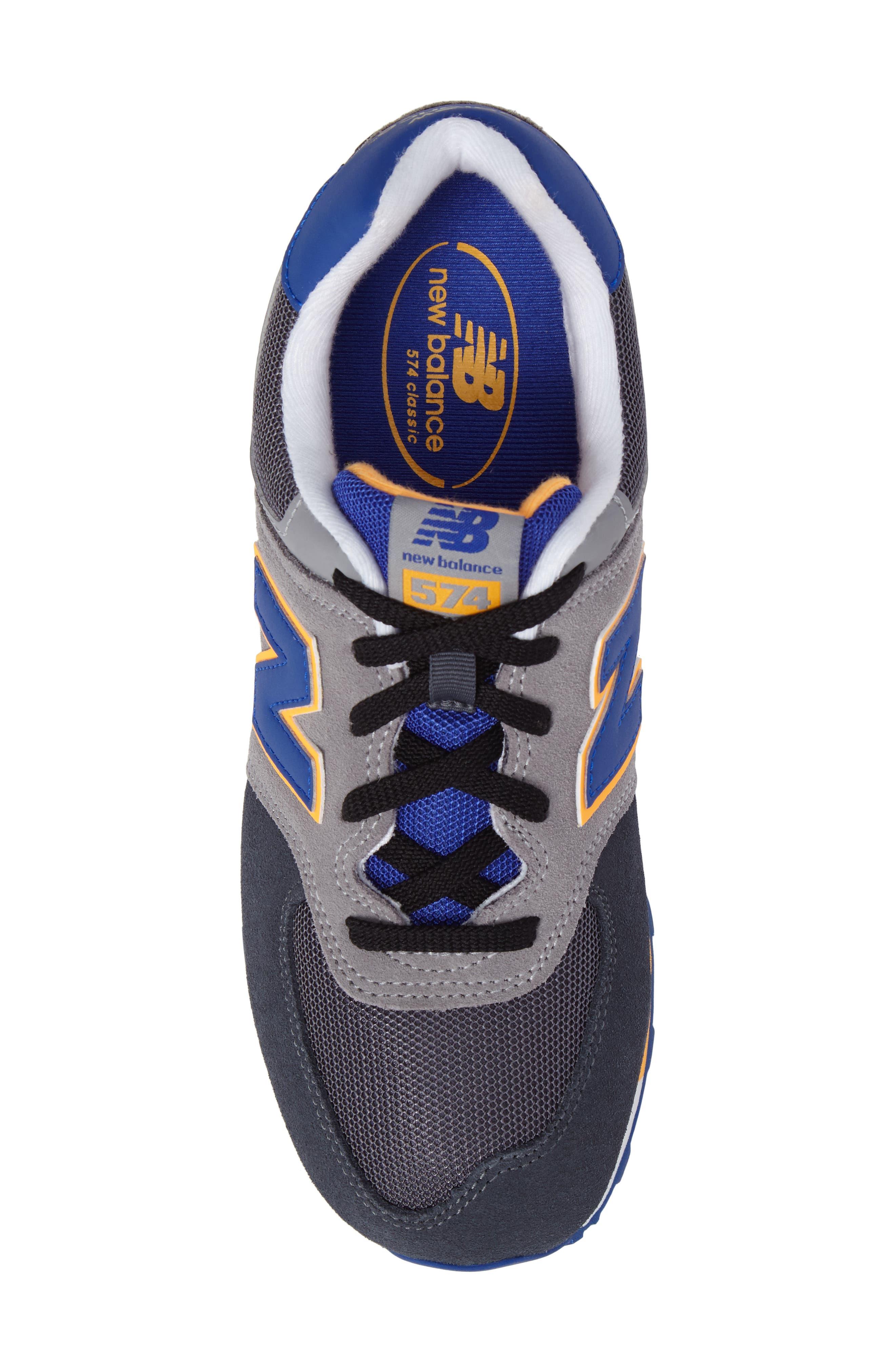 574 Cut & Paste Sneaker,                             Alternate thumbnail 5, color,                             Grey/ Blue