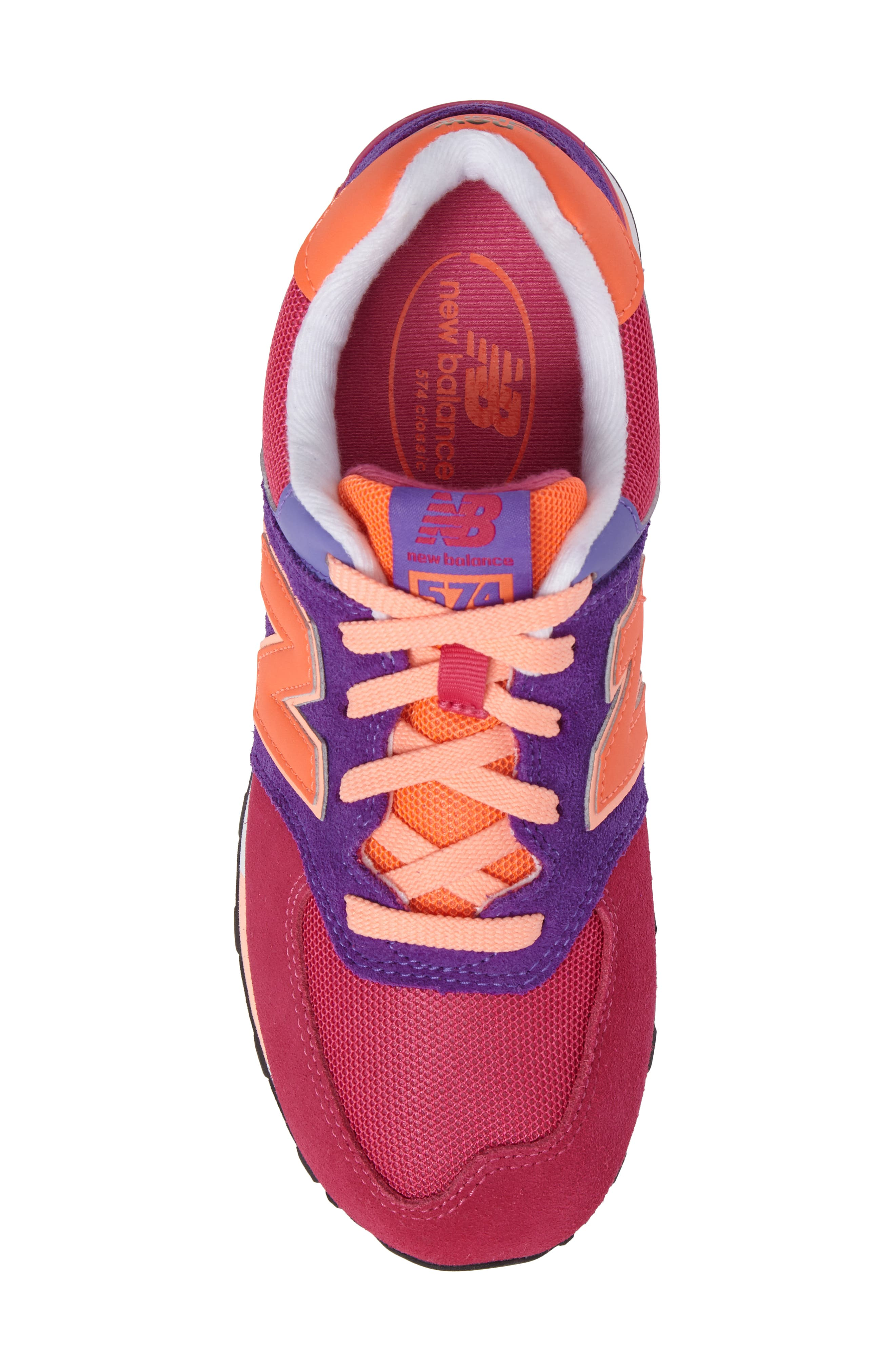 574 Cut & Paste Sneaker,                             Alternate thumbnail 5, color,                             Pink/ Purple