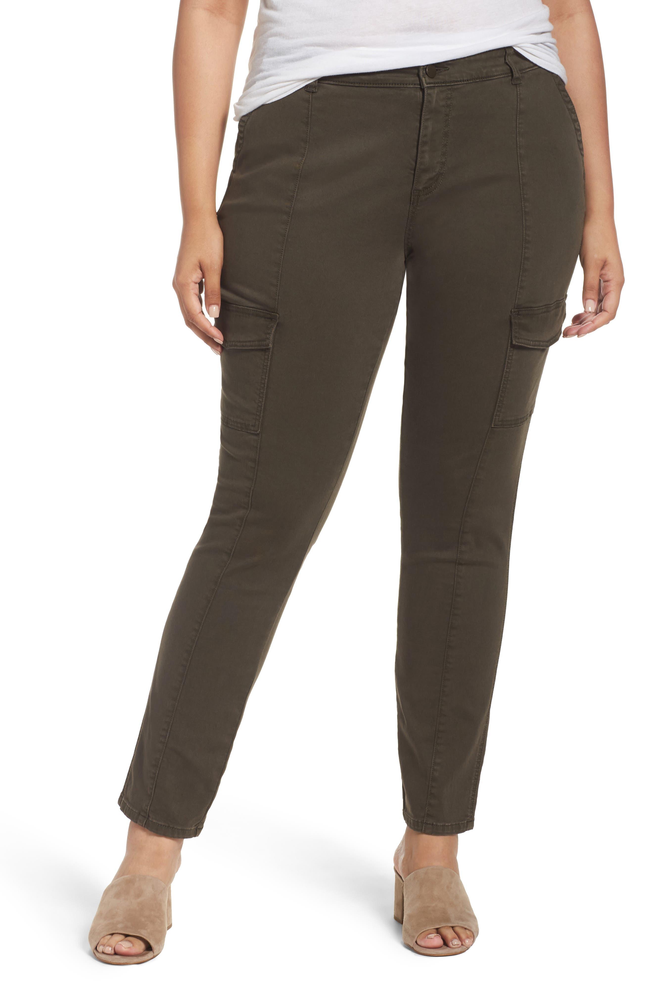Caslon® Skinny Cargo Pants (Plus Size)